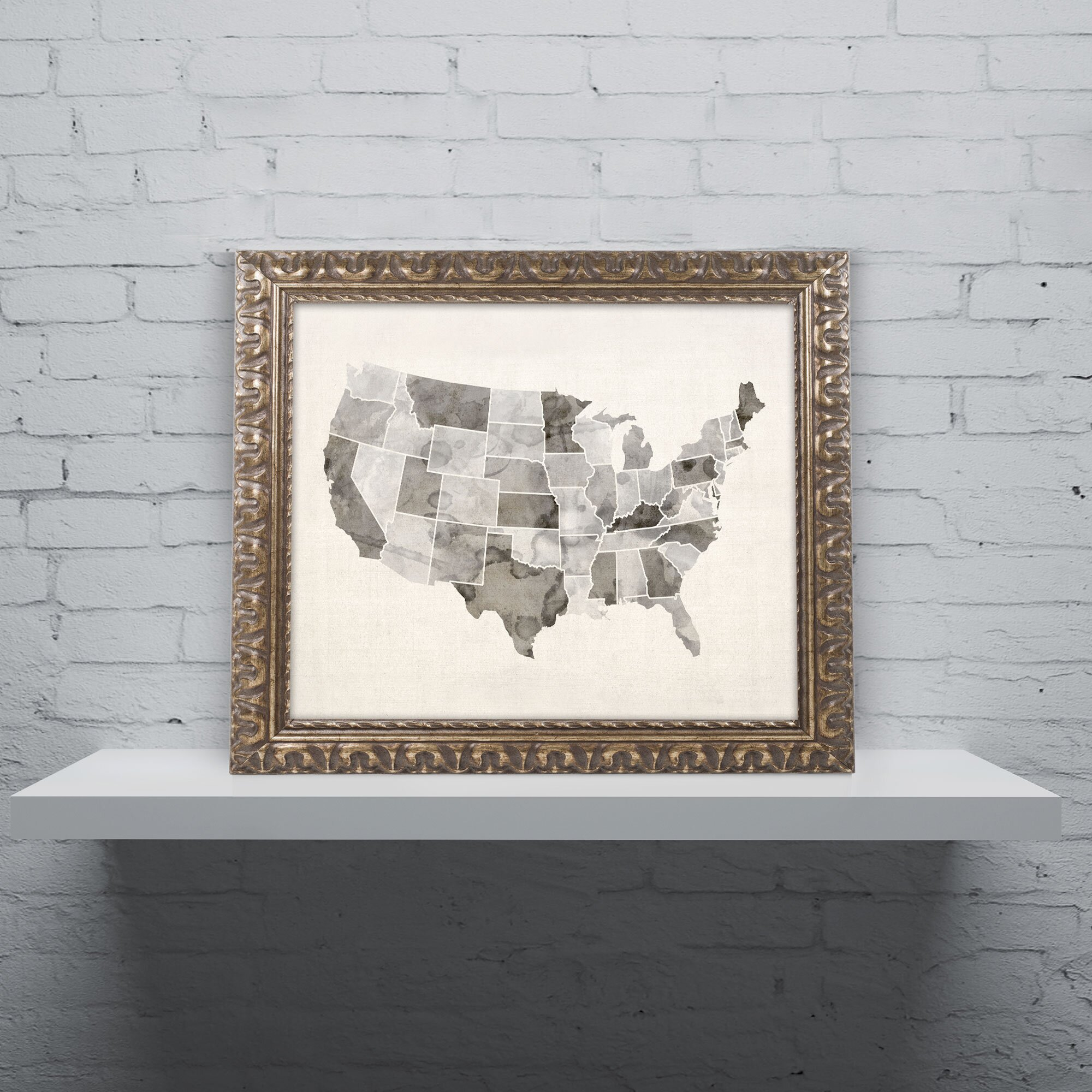 Trademark Art United States Watercolor Map By Michael Tompsett - United states watercolor map