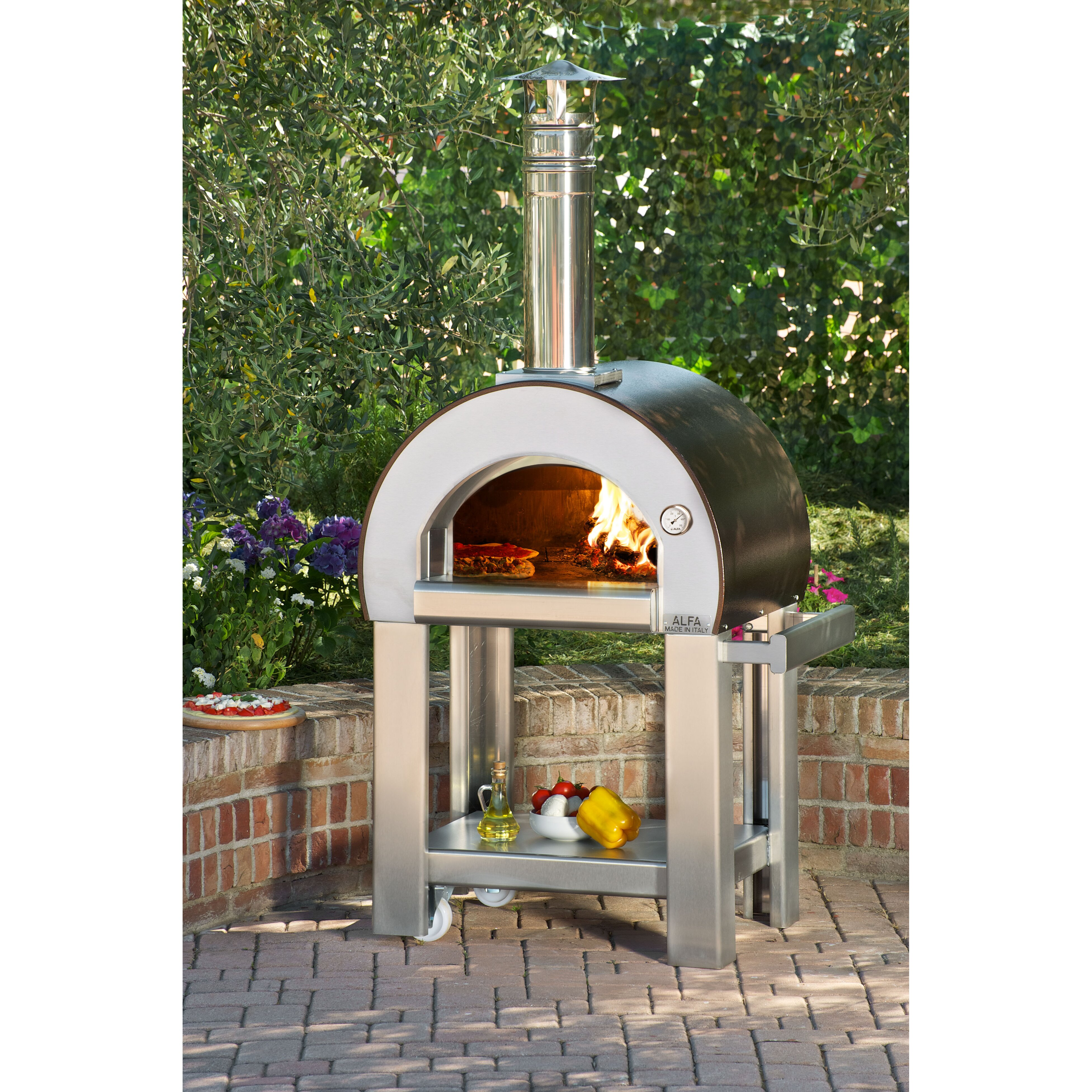 wood burning pizza oven alfa pizza forno 5 wood burning pizza oven amp reviews wayfair 29006