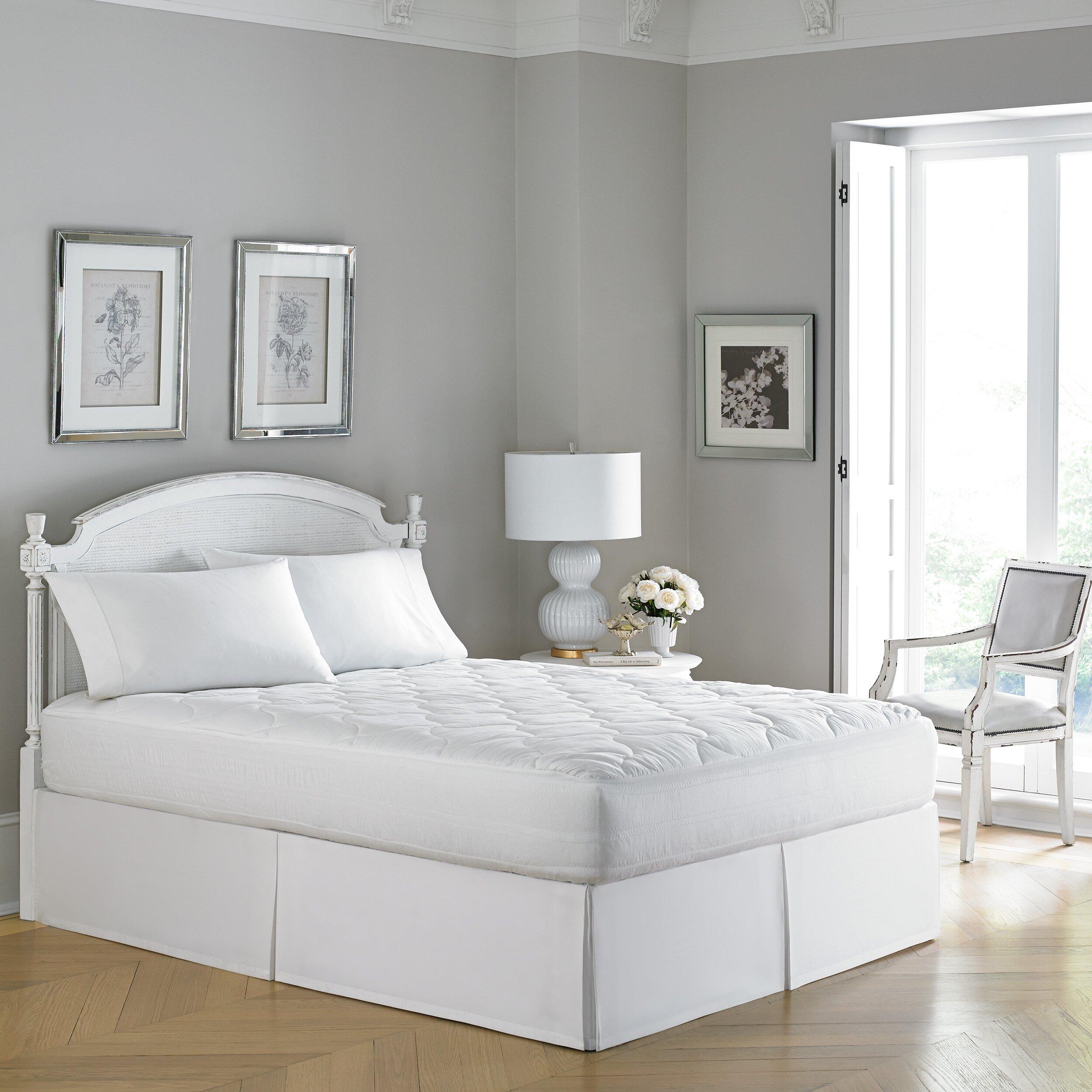 Laura Ashley Bedroom Laura Ashley Home 300 Thread Count Mattress Pad Reviews Wayfair