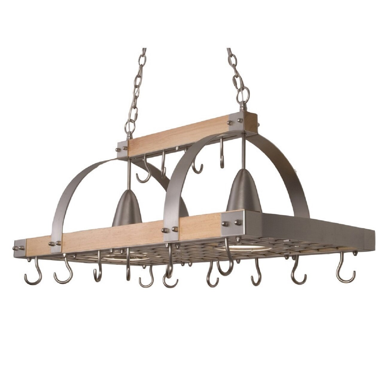 Kitchen Pot Rack All The Rages Elegant Designs 2 Light Kitchen Wood Pot Rack