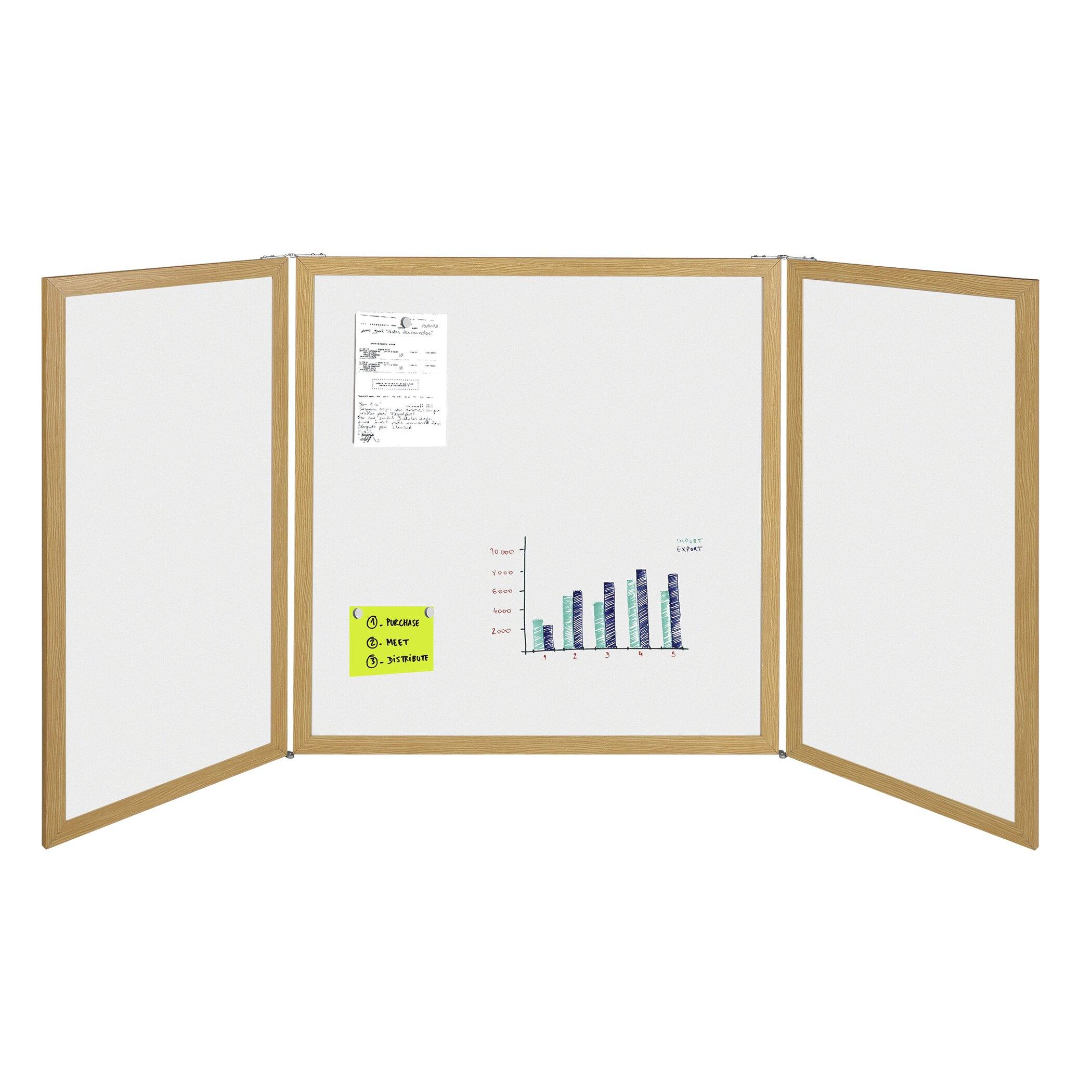 mastervision plus dry erase conference cabinet wall