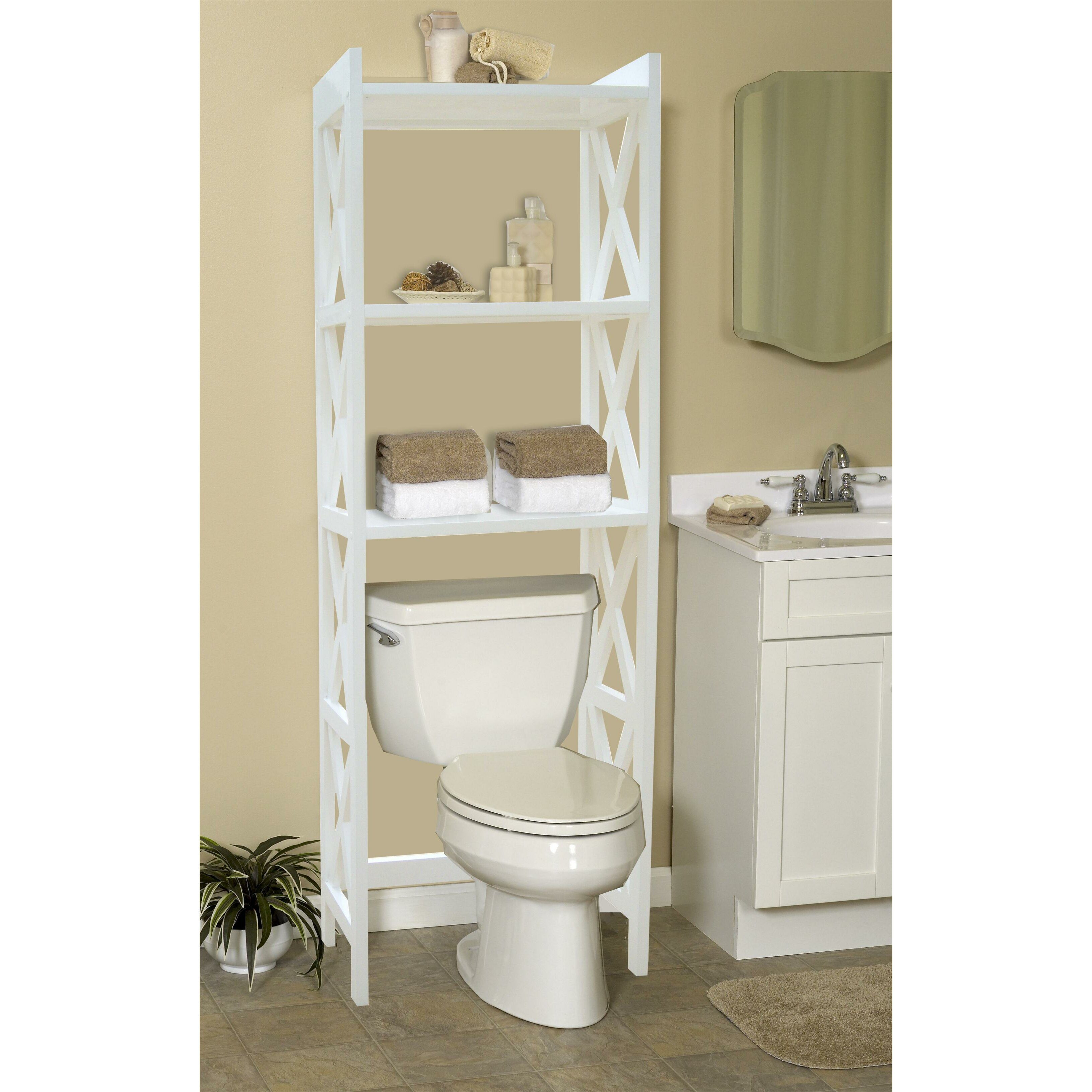 """jenlea bathroom space saver 24.5"""" w x 62"""" h over the toilet"""