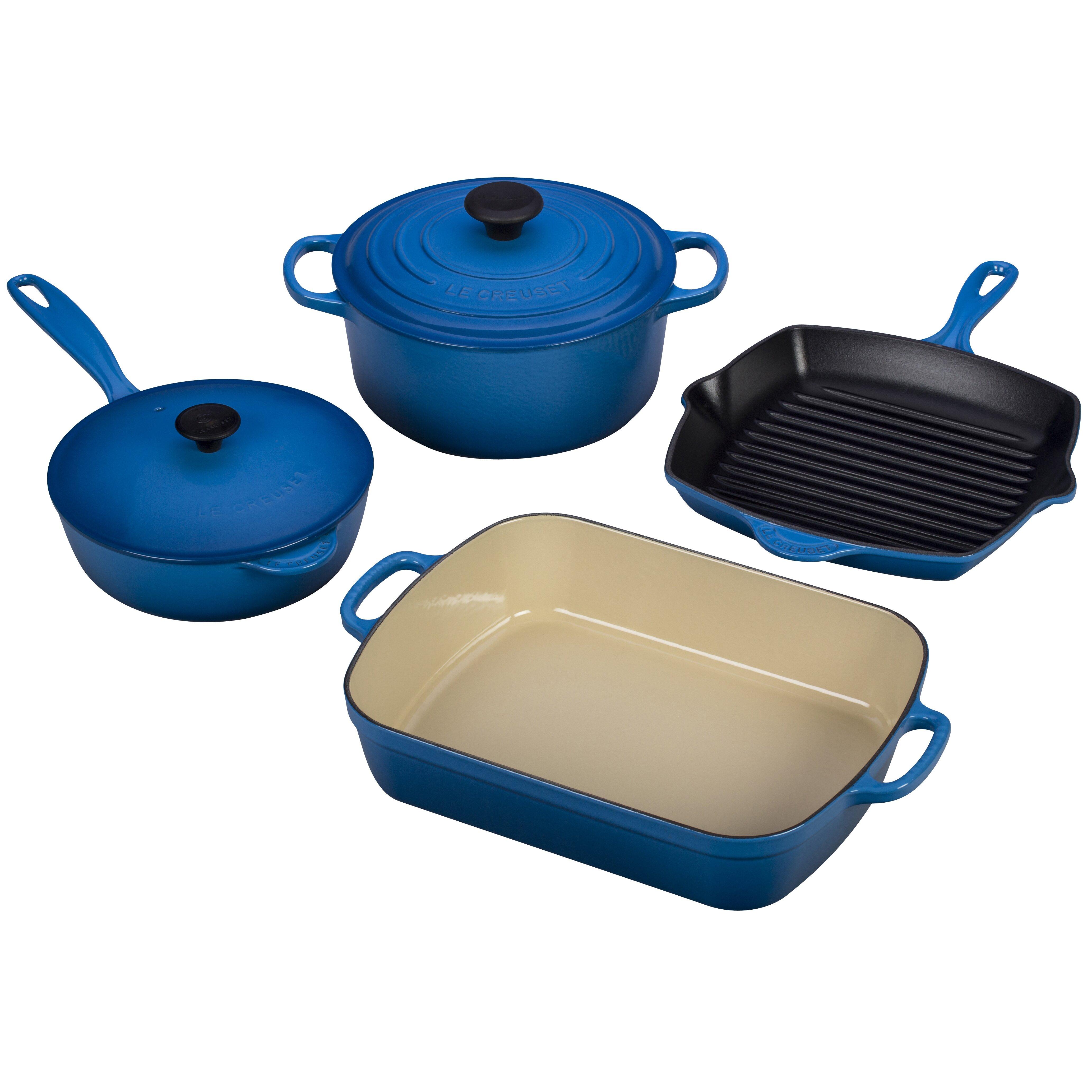 Le creuset cast iron saucepan set - Le Creuset Cast Iron Signature 6 Piece Cookware Set