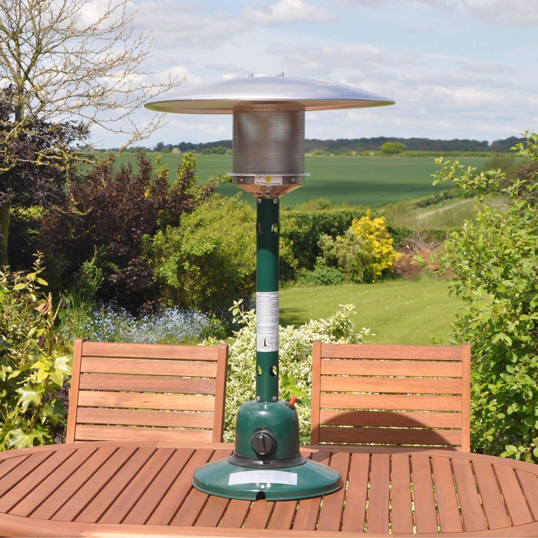 Kingfisher Garden Outdoor Table Top Propane Patio Heater ...