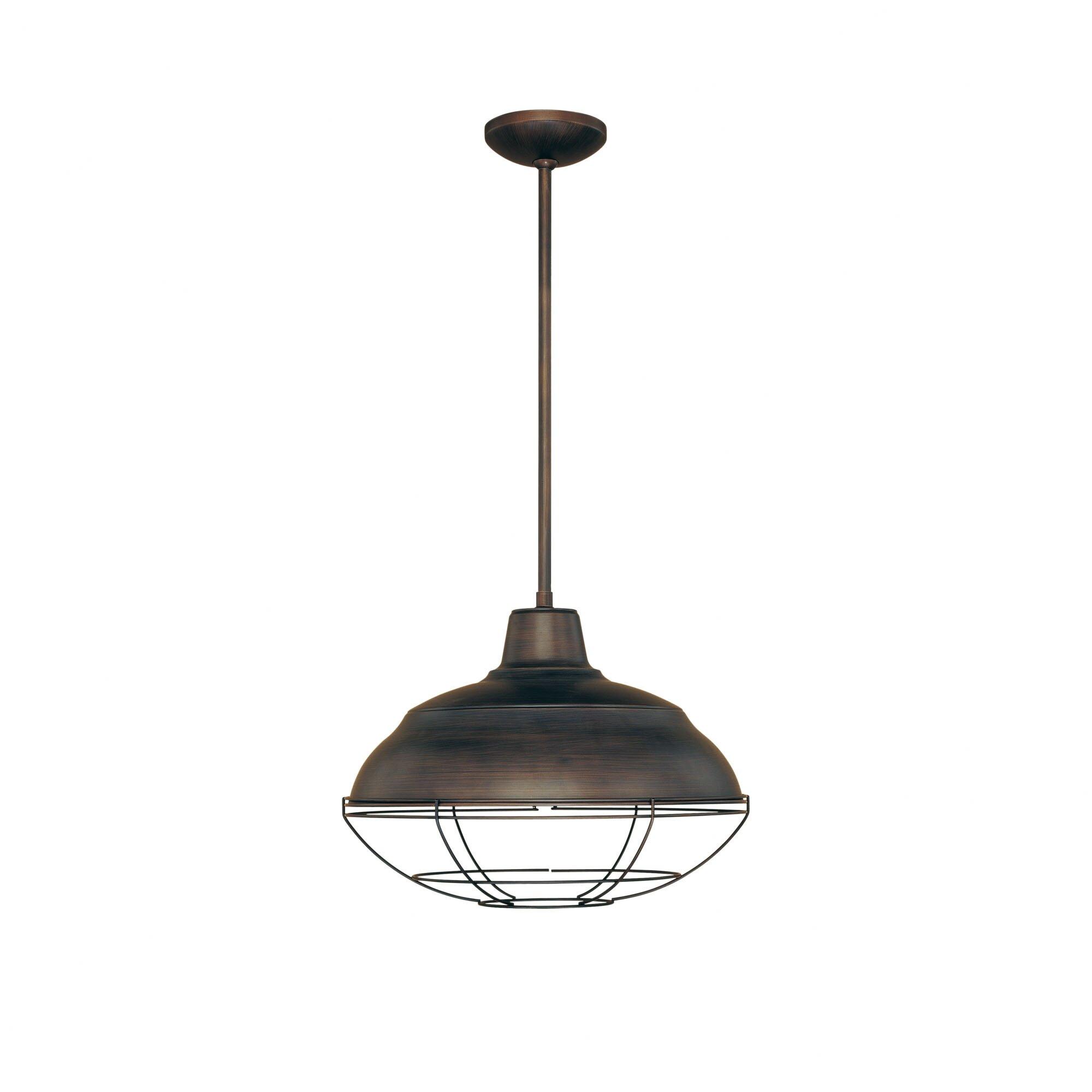 millennium lighting neo industrial 1 light pendant reviews wayfair. Black Bedroom Furniture Sets. Home Design Ideas