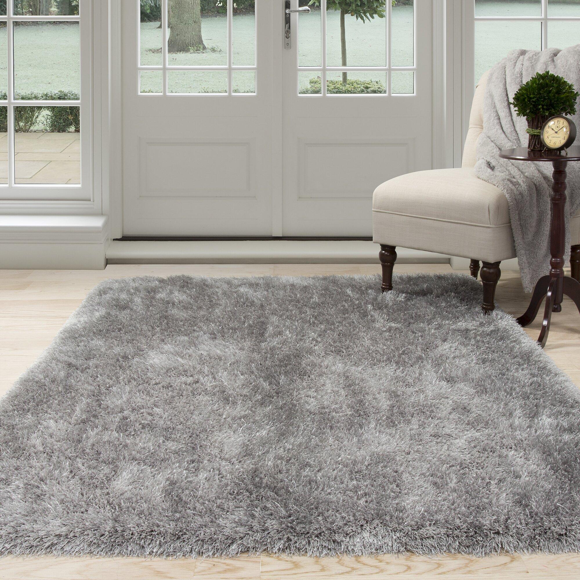 Captivating Lavish Home Gray Shag Area Rug