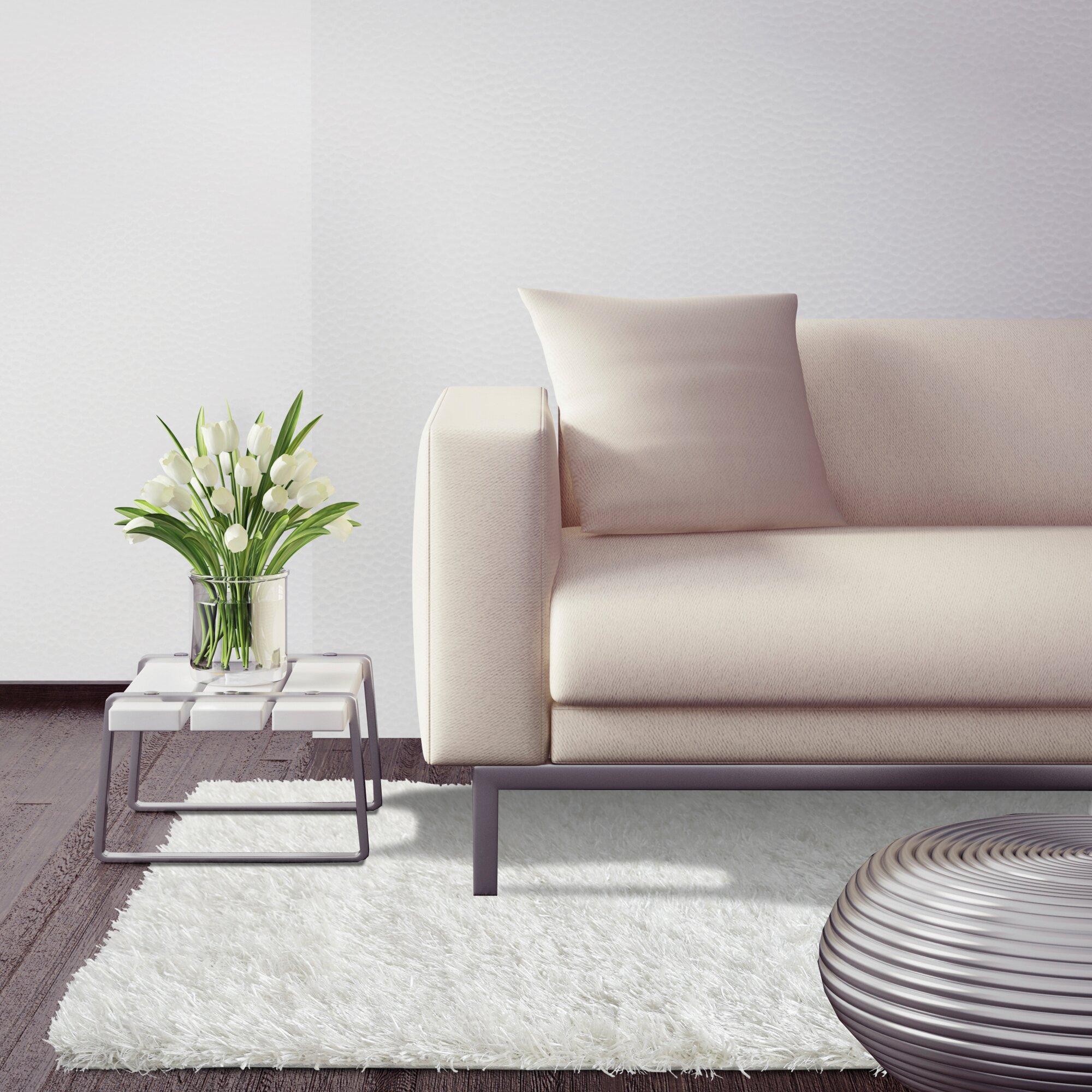 White Living Room Rug Rug Studio City Shag White Area Rug Reviews Wayfair