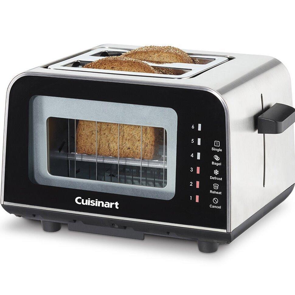 Glass Toaster 4 Slice ~ Cuisinart viewpro slice glass toaster reviews wayfair