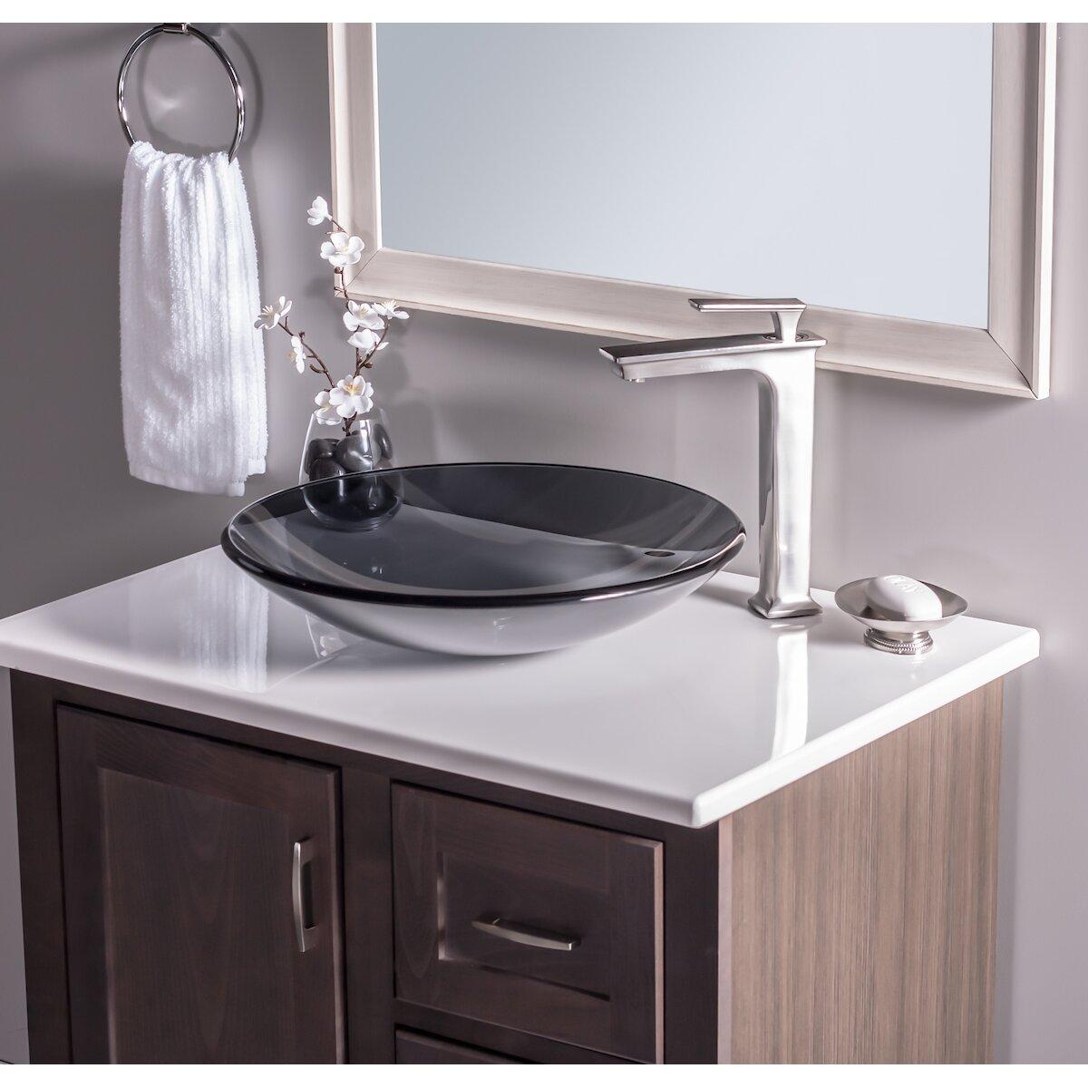 Low Profile Vessel : Novatto Low Profile Glass Vessel Bathroom Sink & Reviews Wayfair