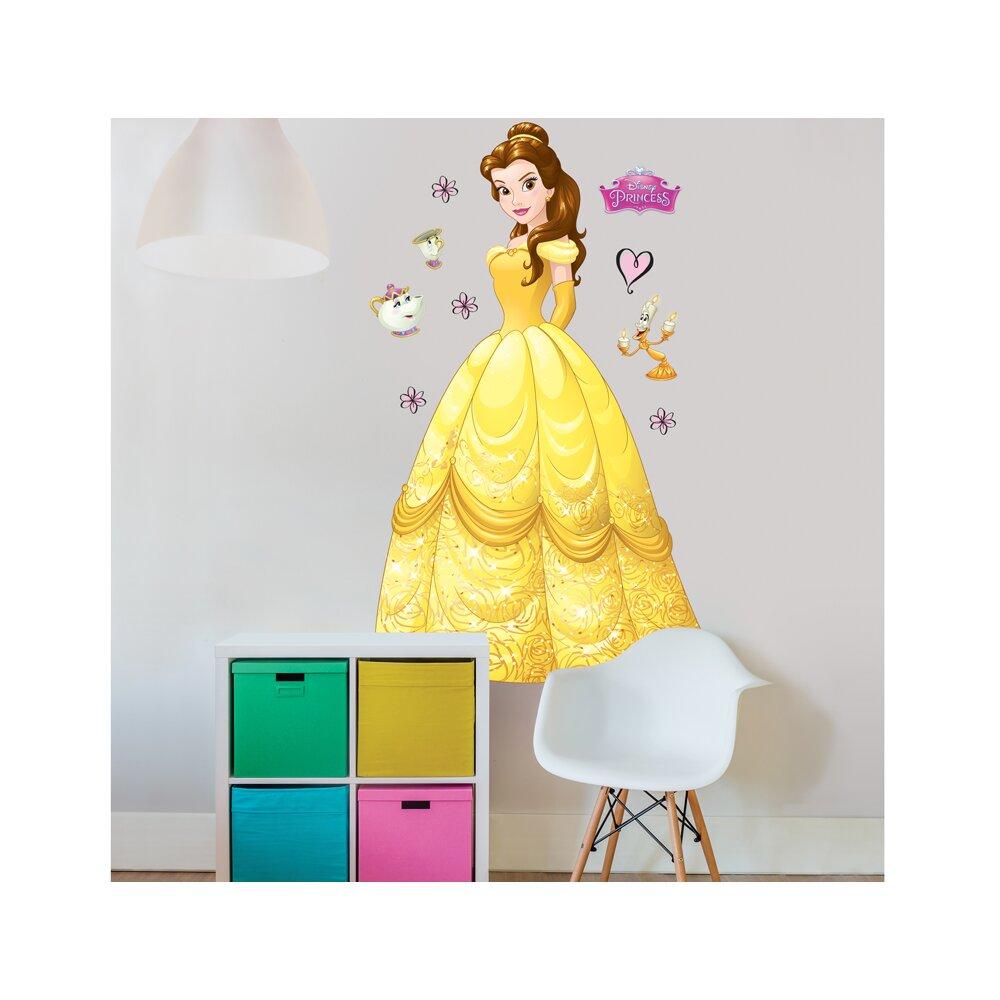 walltastic disney princess belle wall sticker wayfair co uk disney princess wall stickers 45101 walltastic select