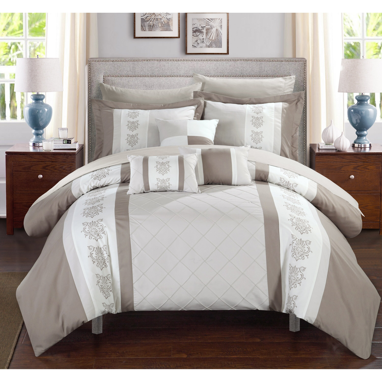 chic home clayton 10 piece comforter set & reviews | wayfair
