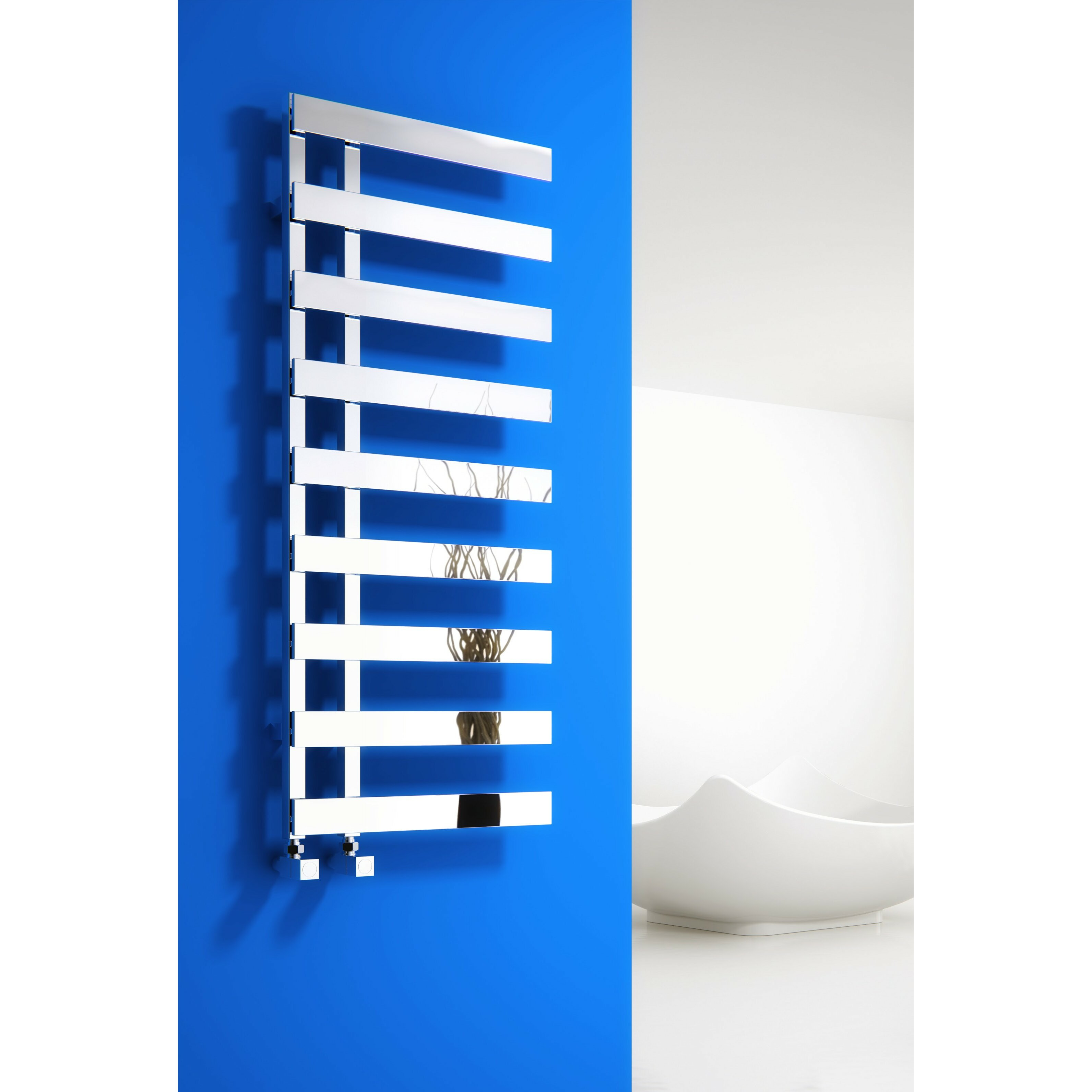 Florina Wall Mount Water-Fed Heated Towel Rail
