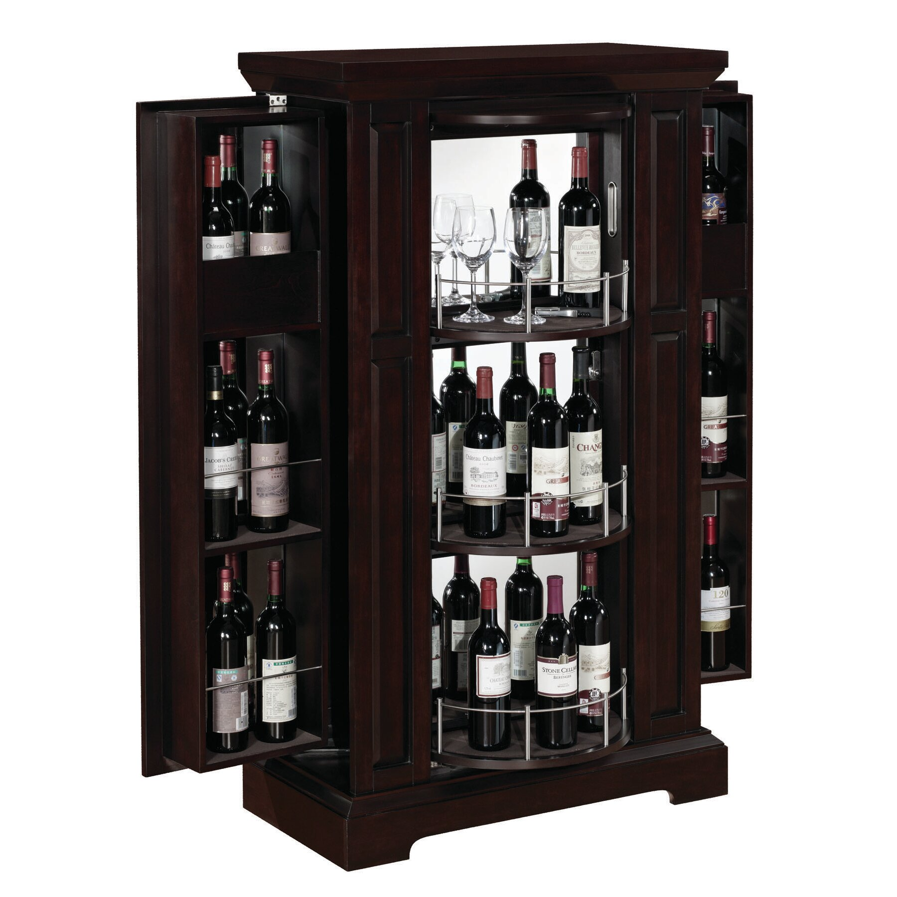 Wine Bar Storage Cabinet Tresanti Metro Bar Cabinet With Wine Storage Reviews Wayfair