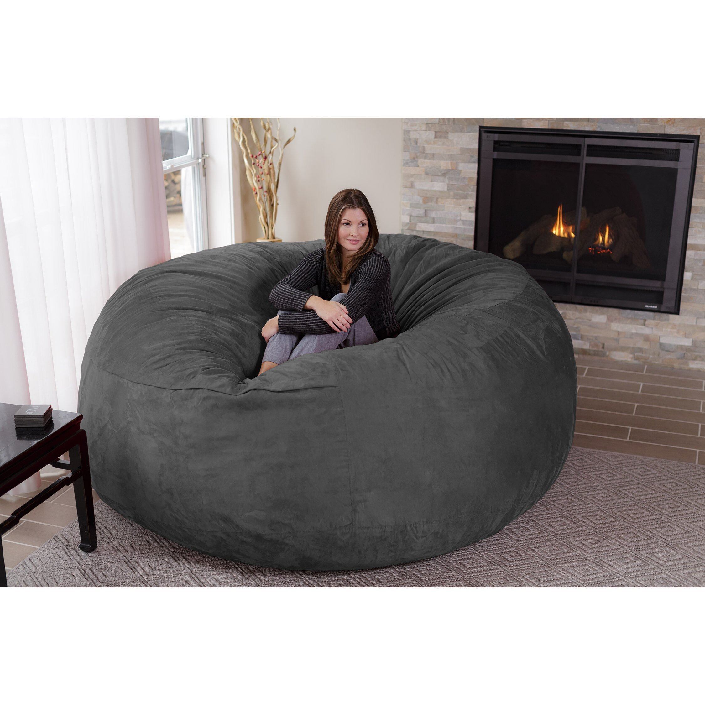 Bag Sofa Faux Leather Sofa Bed Bean Bag Chocolate Brown Giant