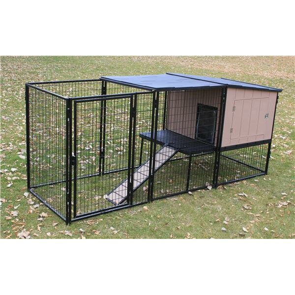 K9 kennel castle run kennel reviews wayfair for Building a dog kennel business