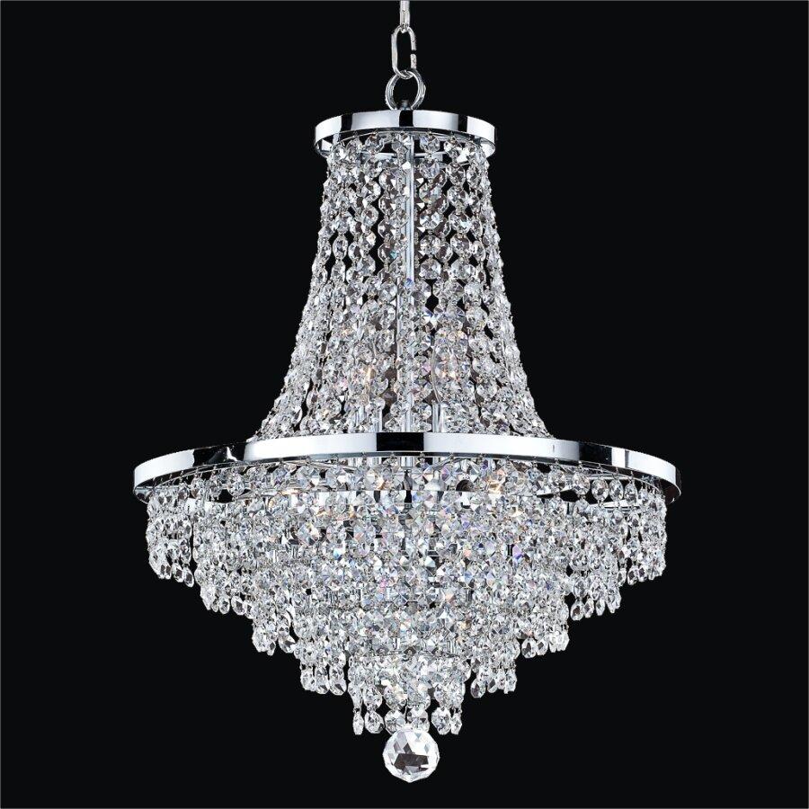 Glow Lighting Vista 8Light Empire Chandelier Reviews – Crystal Chandelier Lights