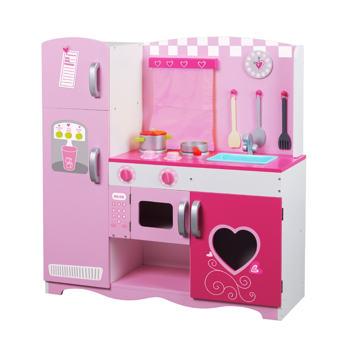 Pink Step 2 Kitchen Classic Toy Wooden Kitchen Set Reviews Wayfair
