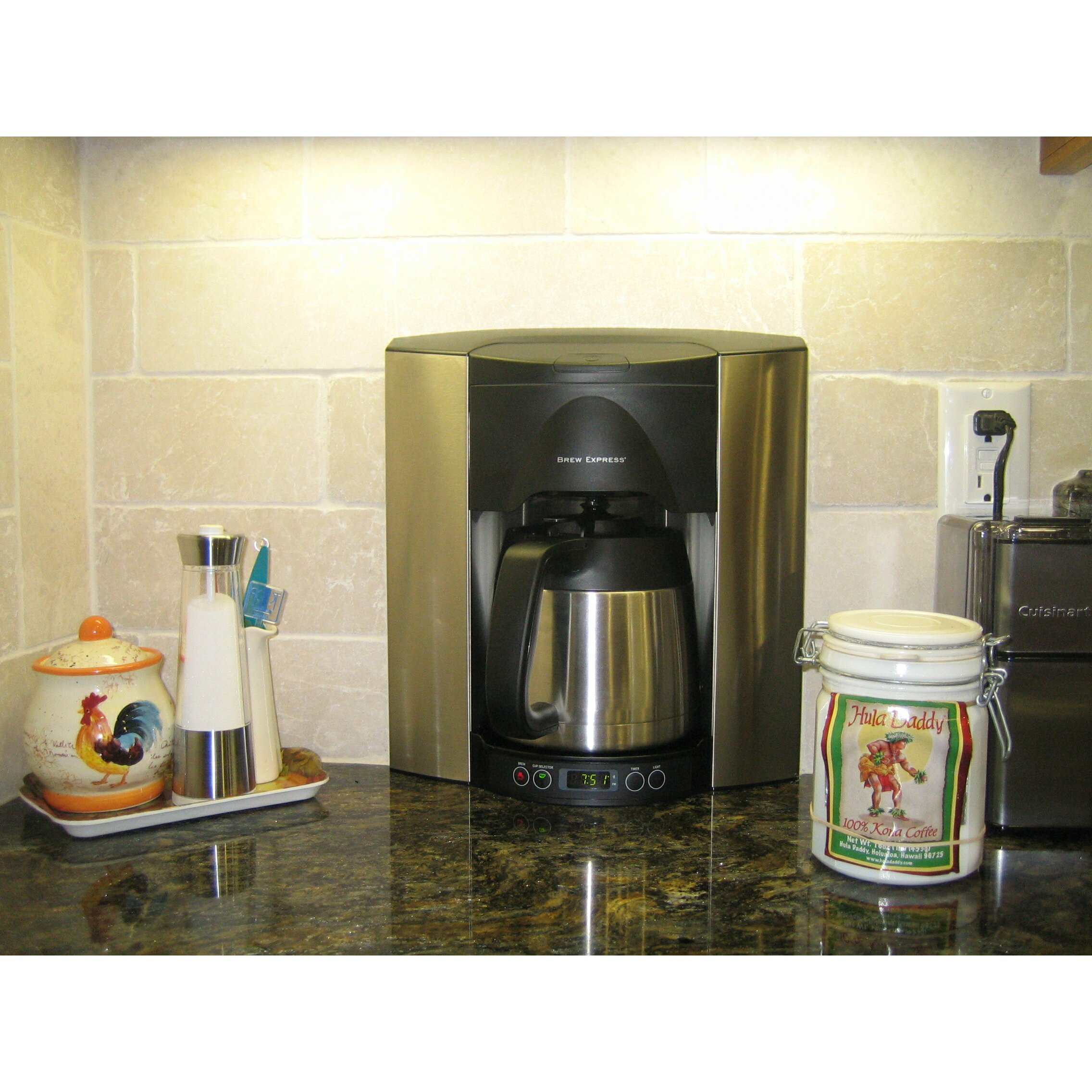 Stainless steel stovetop espresso maker 10 cup - Brew Express 10 Cup Built In The Wall Self Filling Coffee And