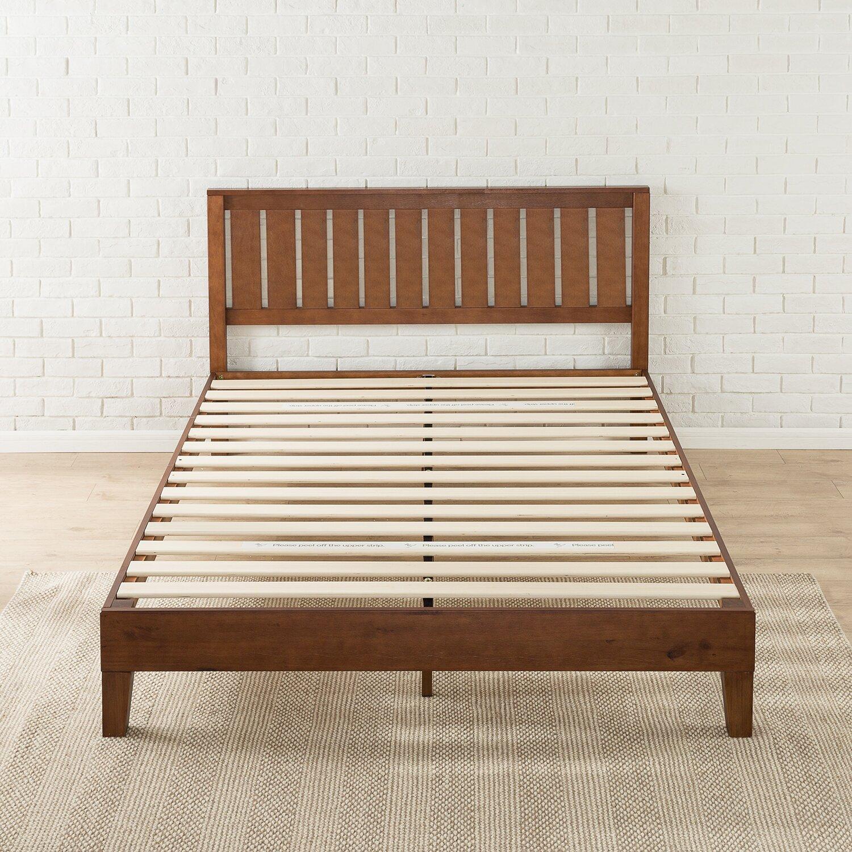 Shaunte Solid Wood Platform Bed Wood Sustainable Bed Wayfair  Wooden Zinus  Red Beds Moncler Factory. Zinus Metal Red Beds   designaglowpapershop com