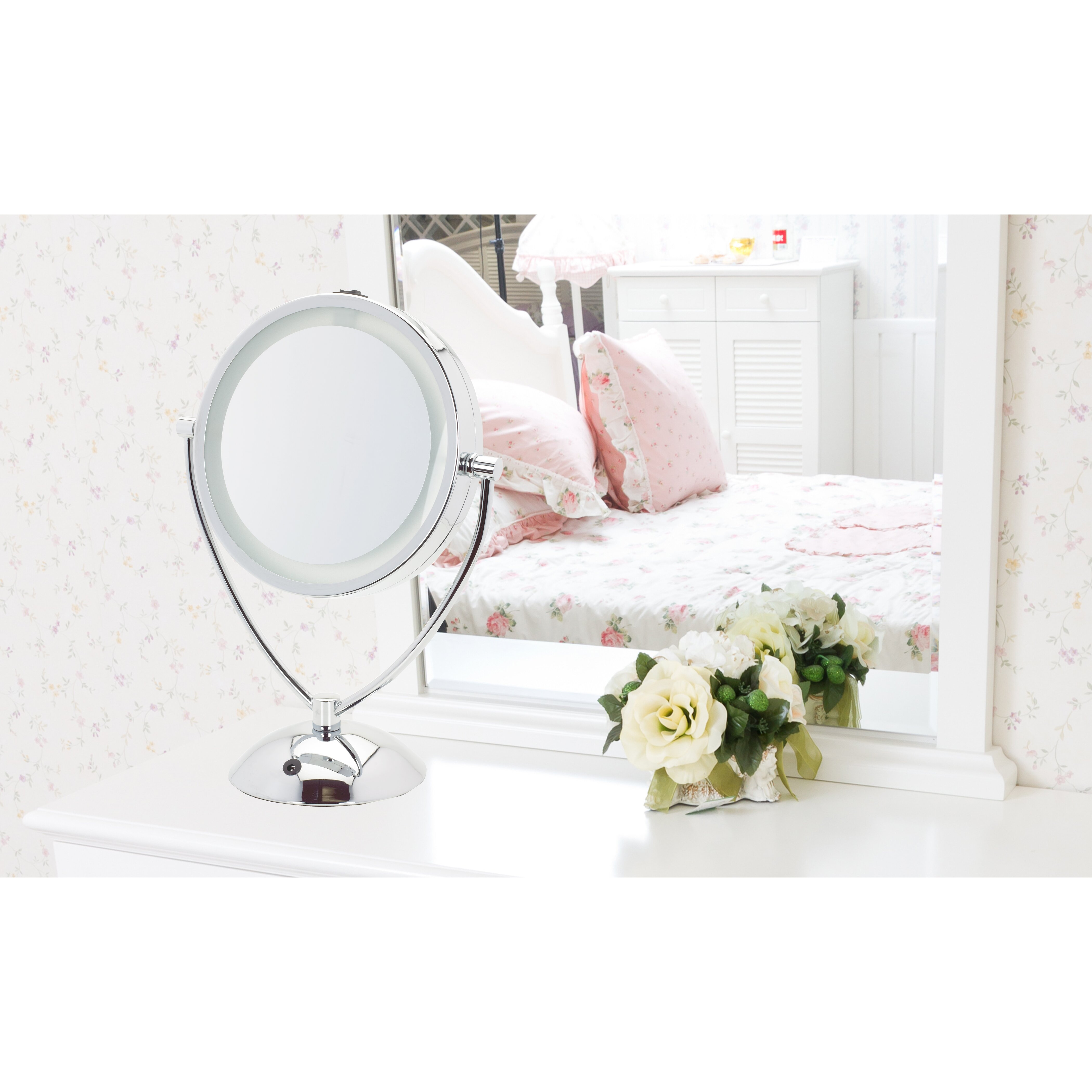 Danielle Creations Dual Level Led Vanity Lighted Mirror