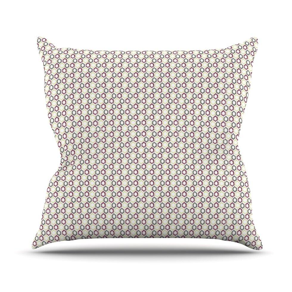 Kess inhouse hexy small throw pillow wayfair for Small toss pillows