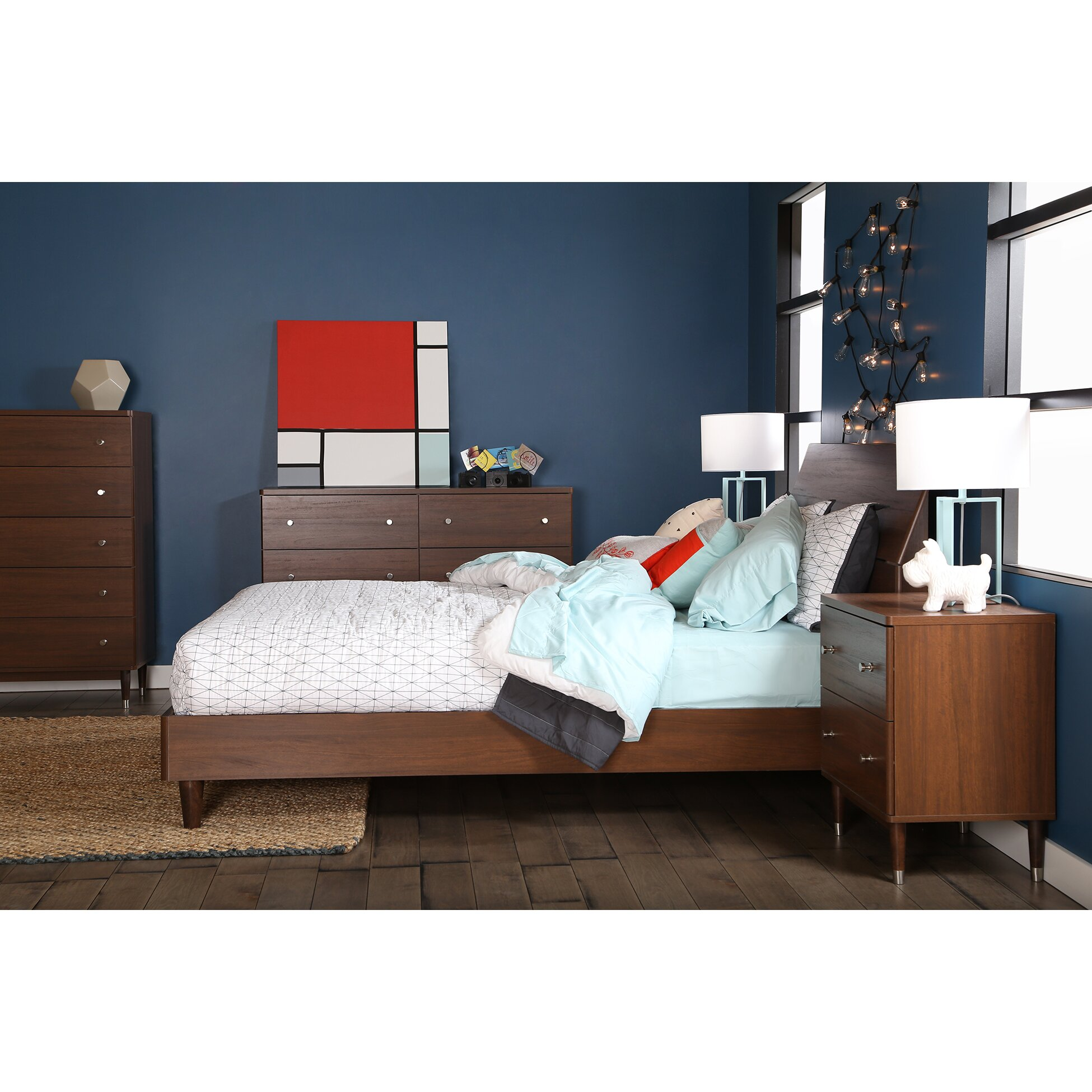 South Shore Bedroom Furniture South Shore Olly Queen Platform Customizable Bedroom Set Reviews