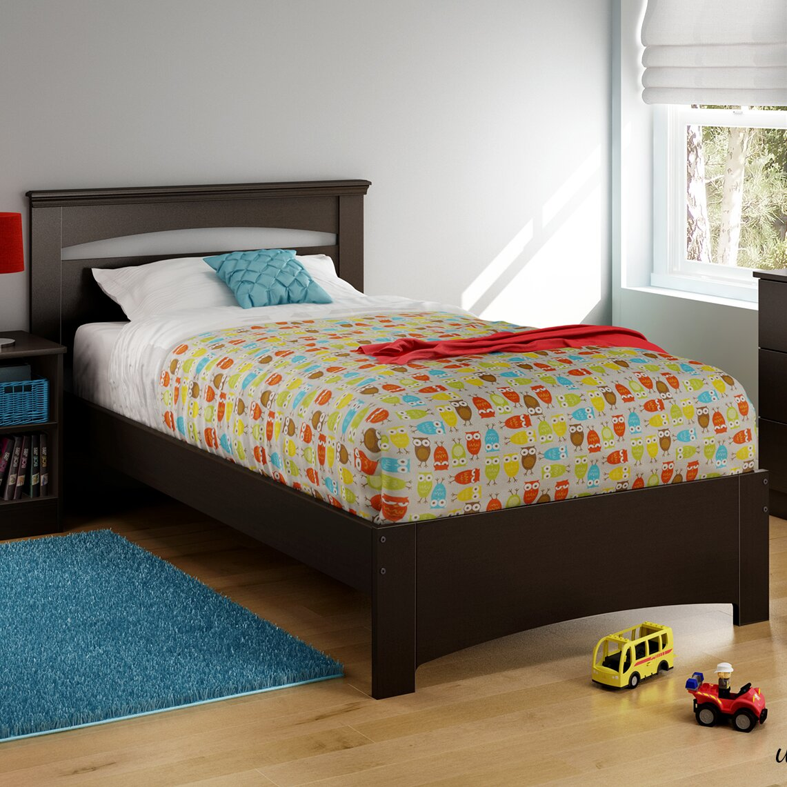 south shore libra twin panel bed reviews wayfair. Black Bedroom Furniture Sets. Home Design Ideas