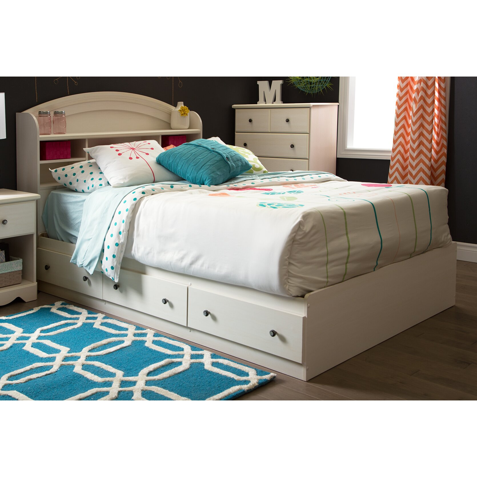Country Bedroom Sets: South Shore Country Poetry Platform Customizable Bedroom