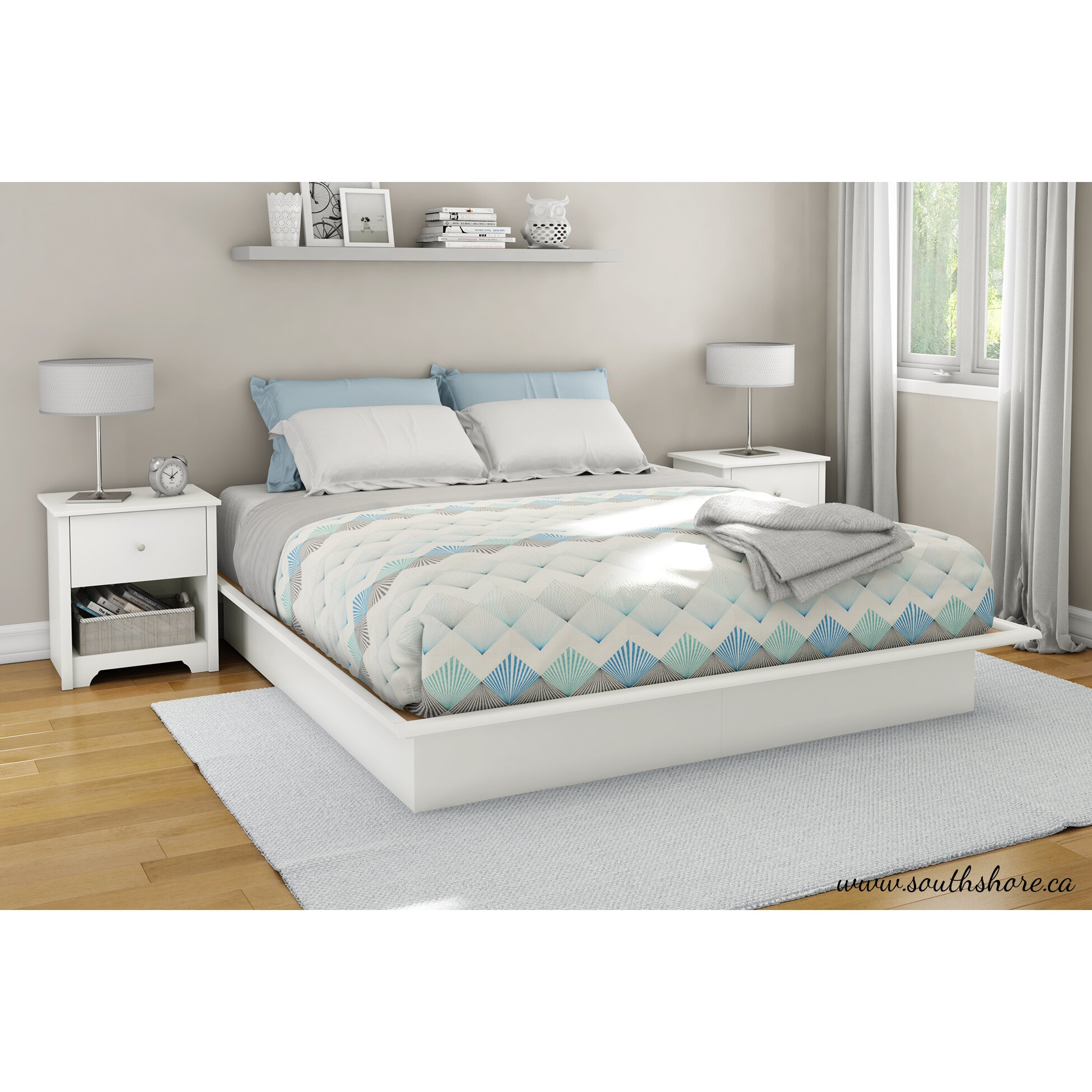 south shore newbury storage platform bed
