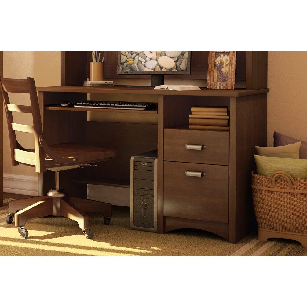 south shore gascony computer desk reviews. Black Bedroom Furniture Sets. Home Design Ideas