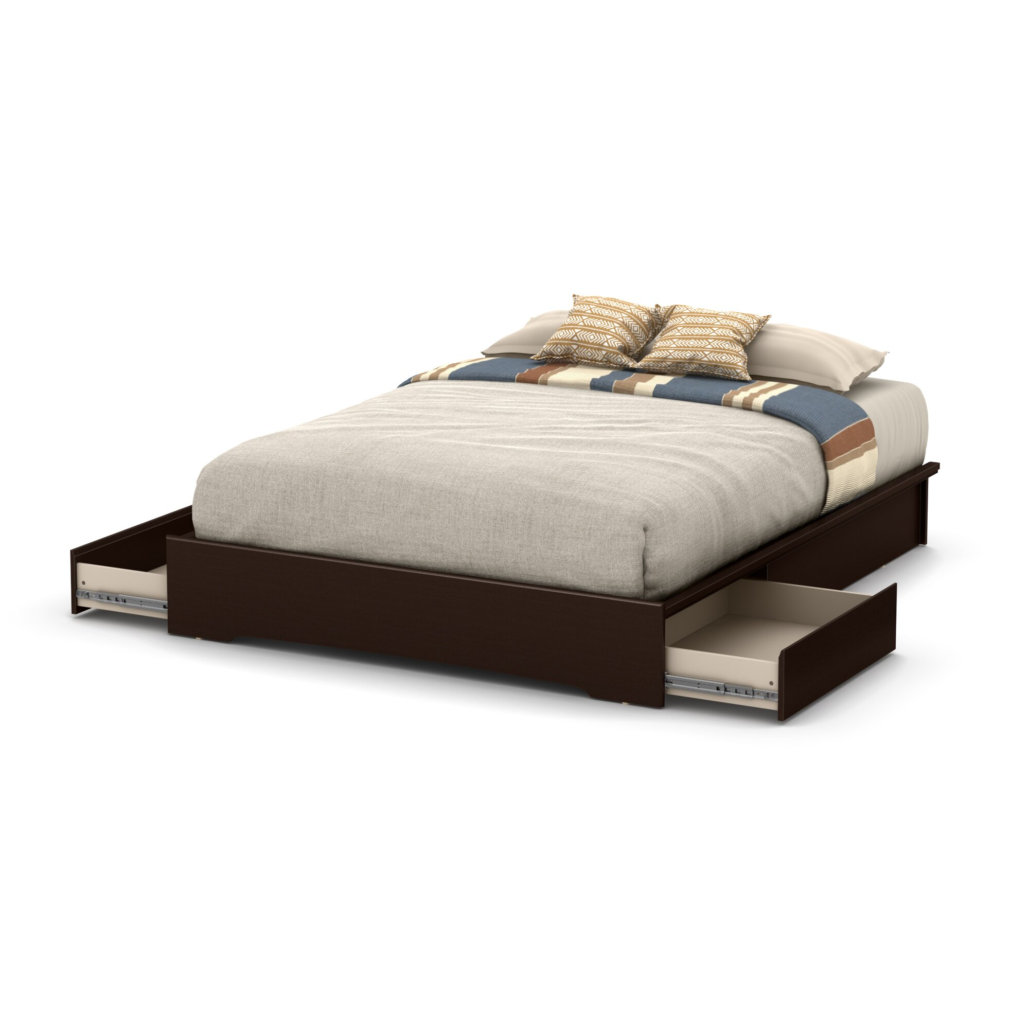 south shore basic queen storage platform bed