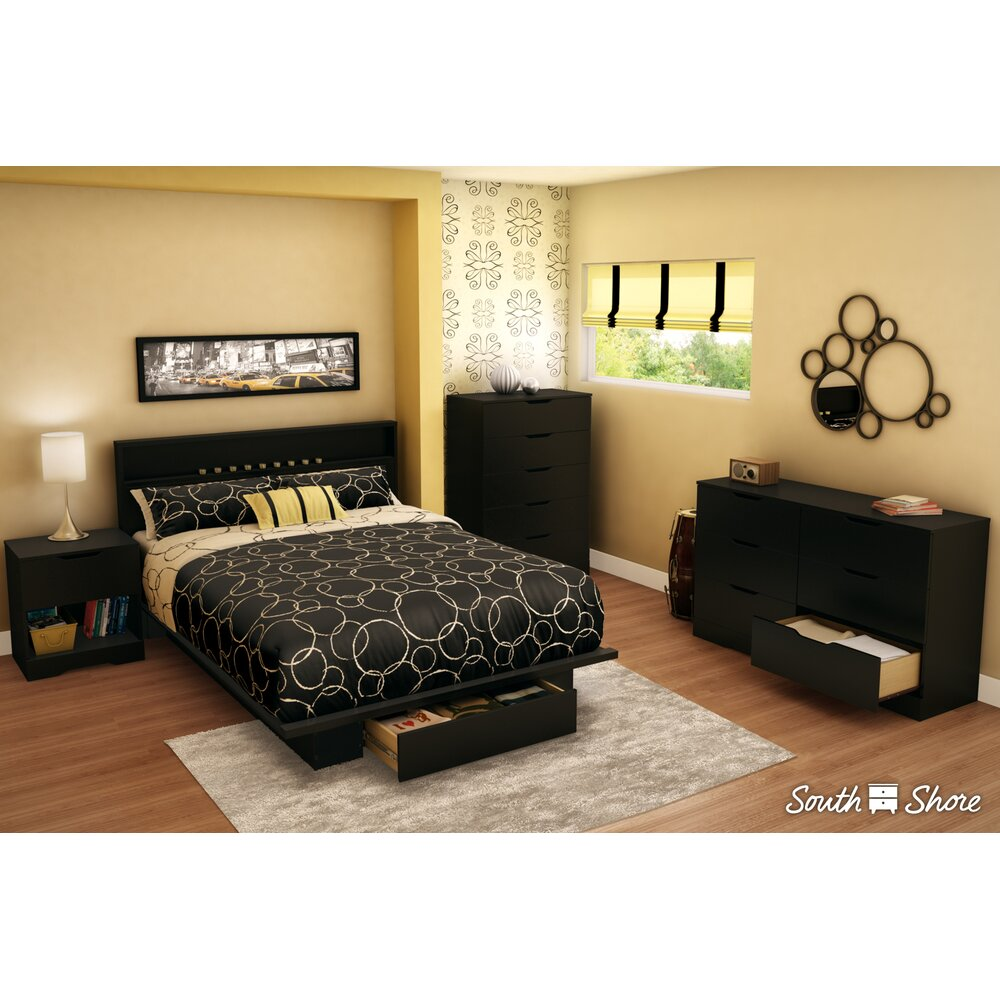south shore holland storage queen platform bed