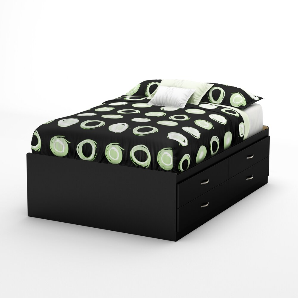 south shore full storage platform bed