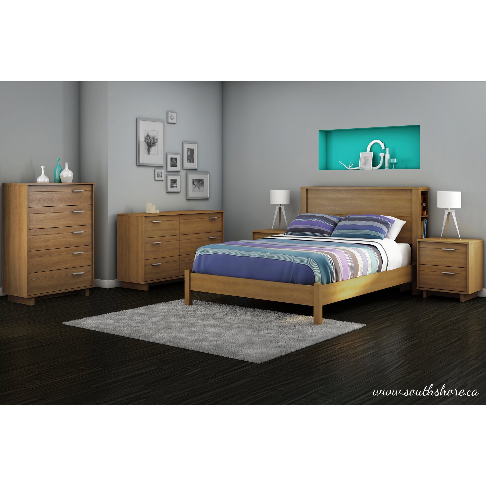south shore fynn 54 platform bed