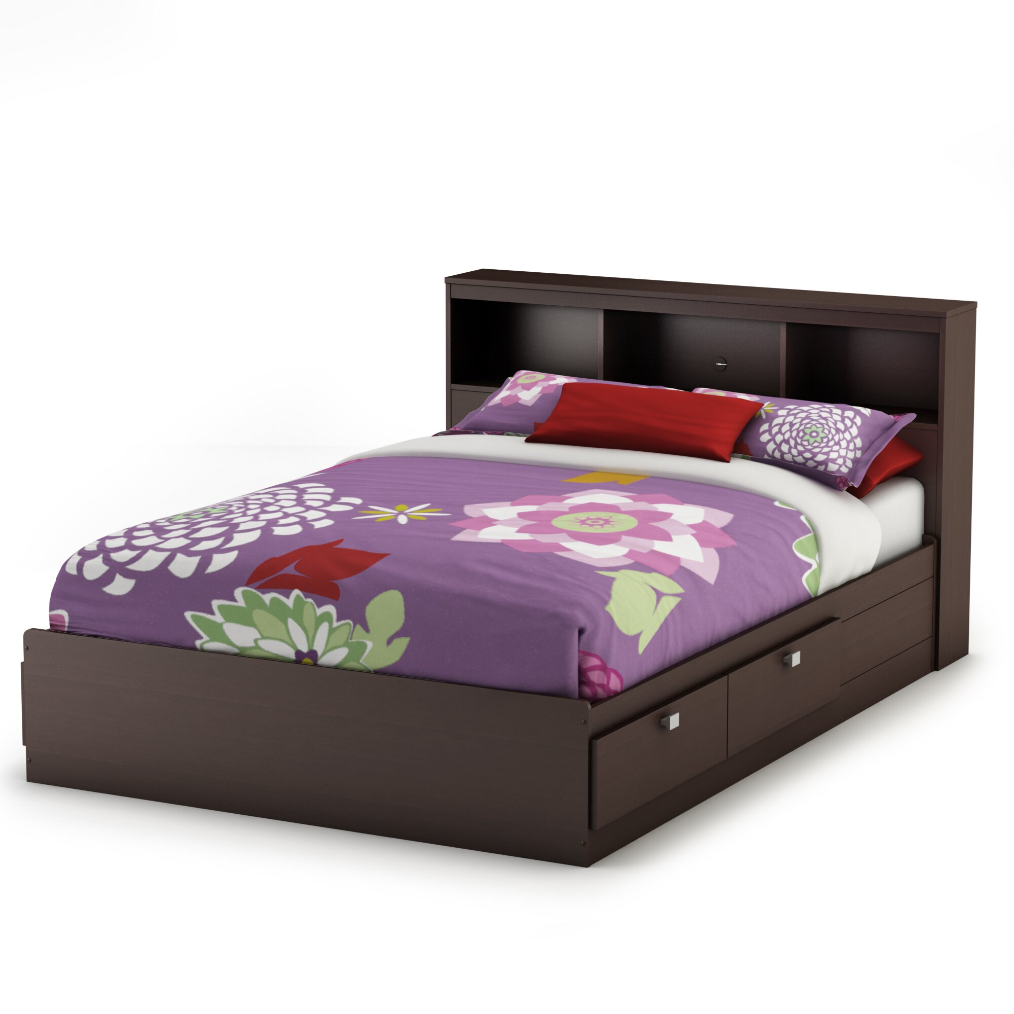 South Shore Bedroom Furniture South Shore Karma Mates Bed With Storage Reviews Wayfair