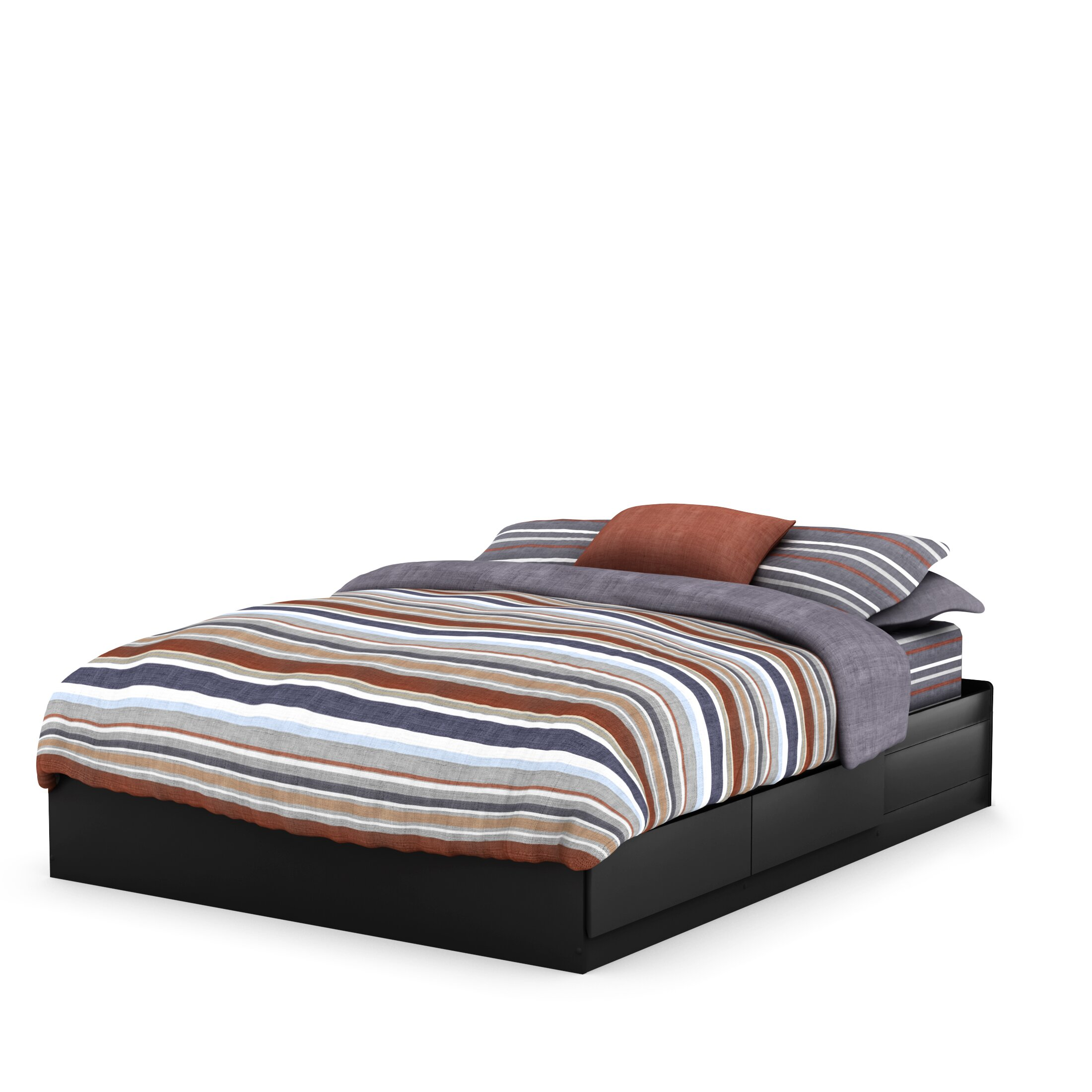 south shore fusion queen storage platform bed