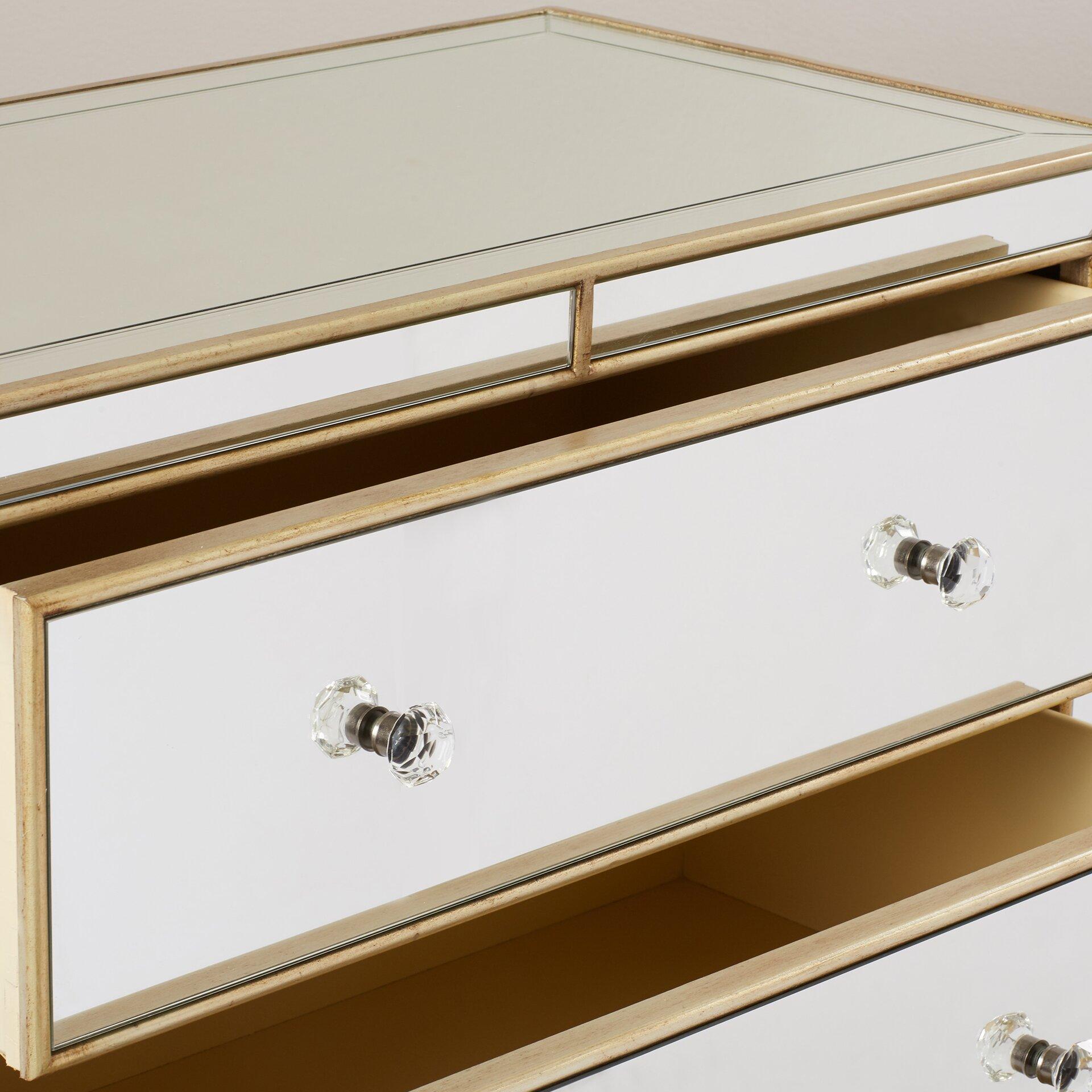 Hammary Hidden Treasures Trunk Coffee Table Hammary Hidden Treasures Mirror 3 Drawer Chest Reviews Wayfair