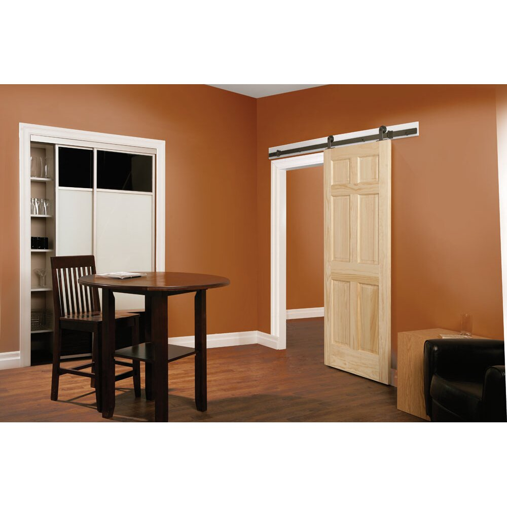 Erias home designs top of door sliding barn door hardware for Home hardware home designs