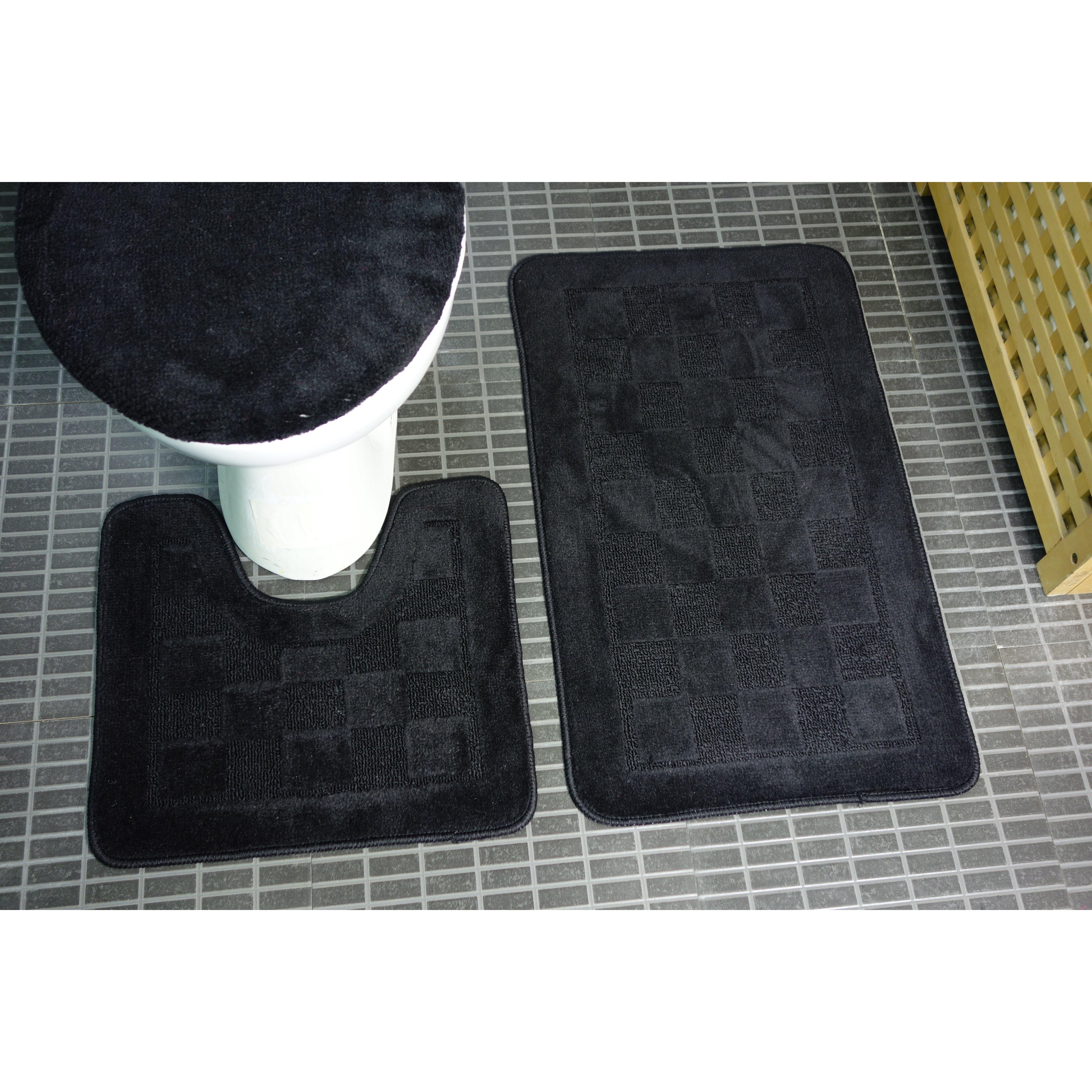 Bathroom Rugs Set Dainty Home 3 Piece Bath Rug Set Reviews Wayfair