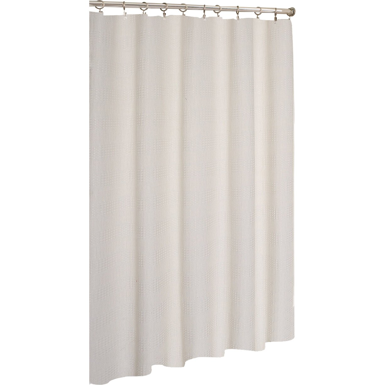 Dainty Home Stripped Hotel Waffle Shower Curtain Reviews Wayfair