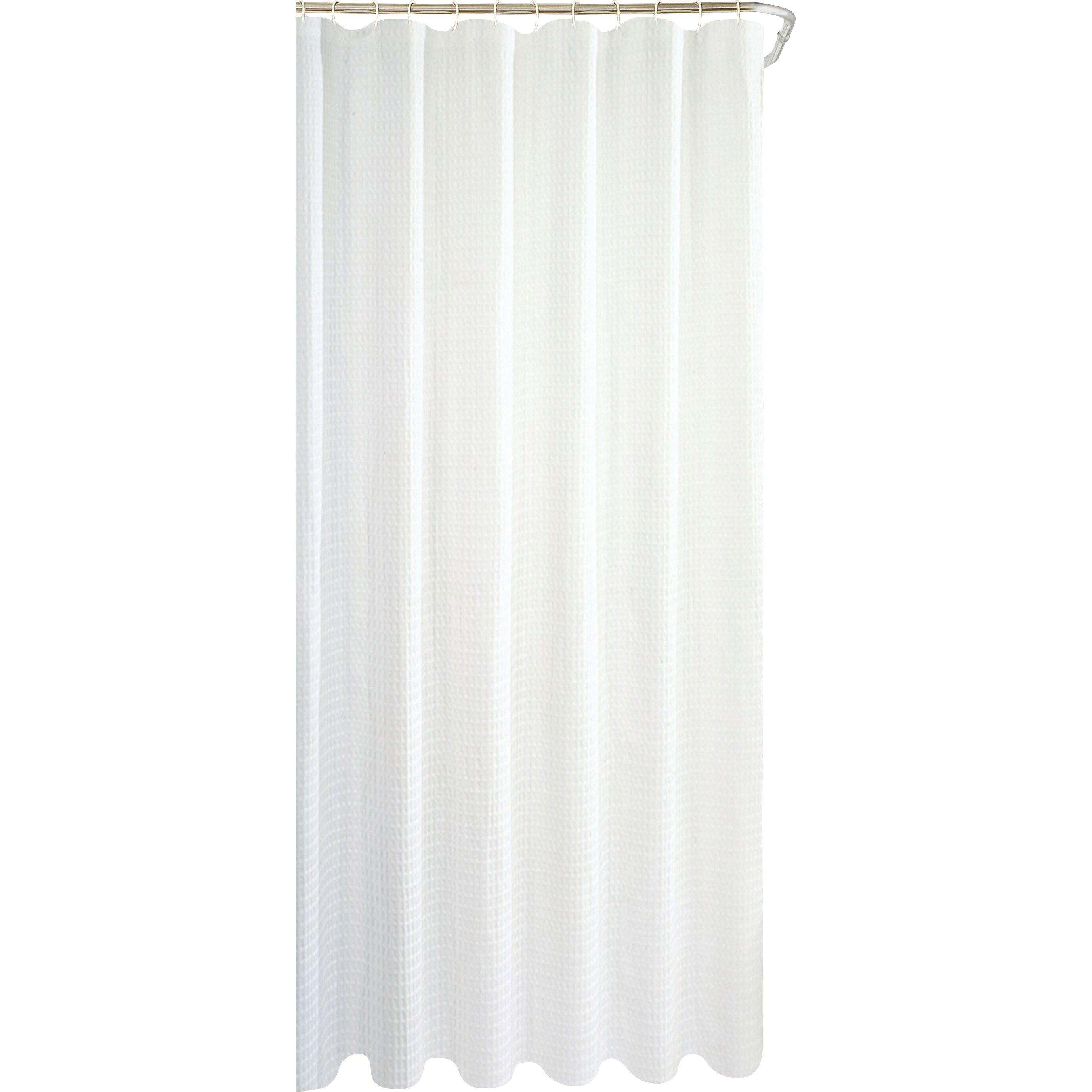 dainty home hotel waffle shower curtain reviews wayfair