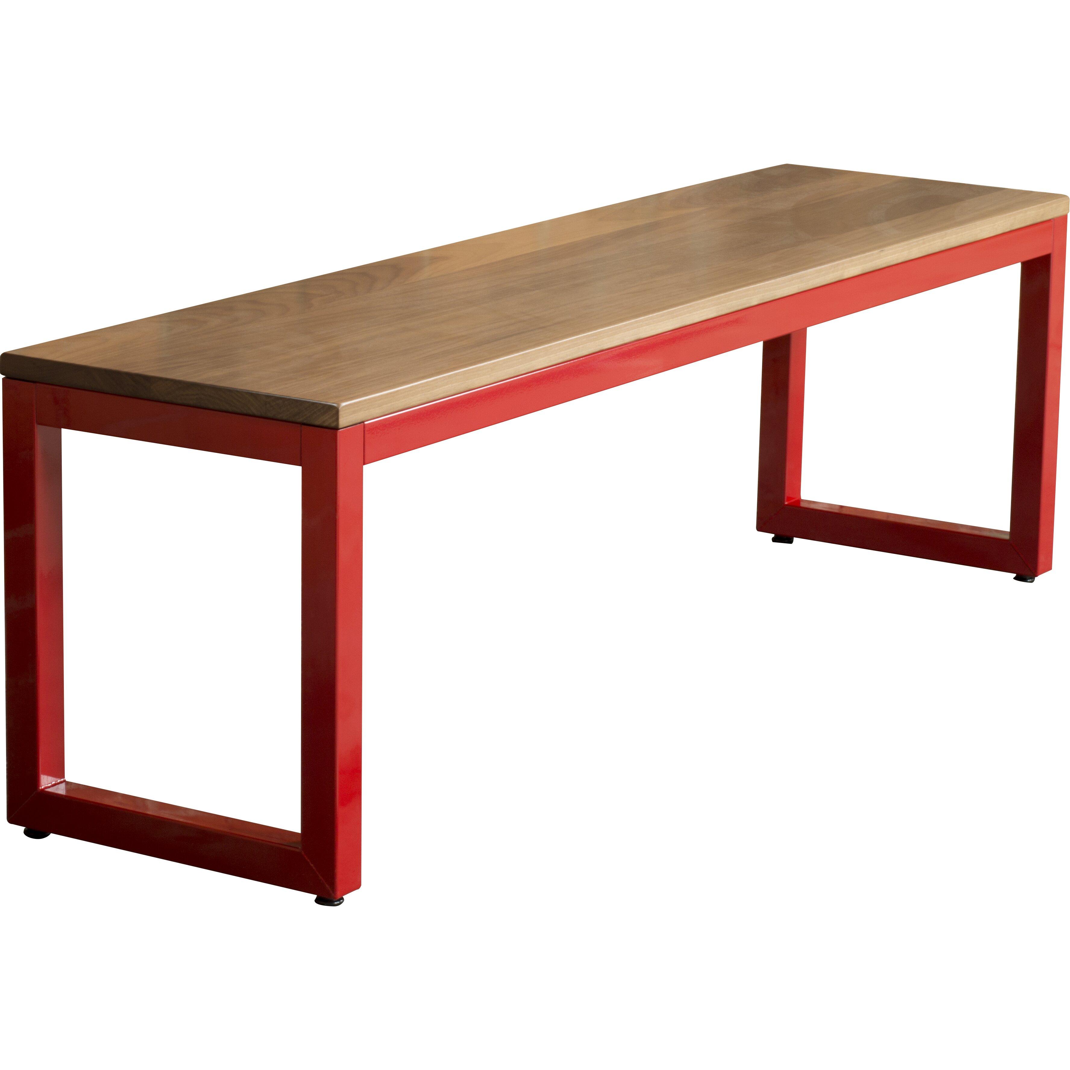 Metal Foyer Bench : Elan furniture loft metal and wood entryway bench