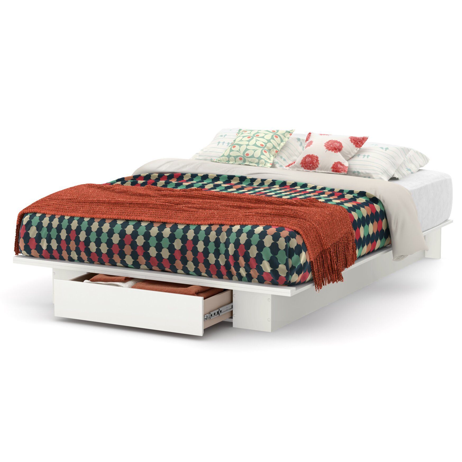 south shore holland storage platform bed