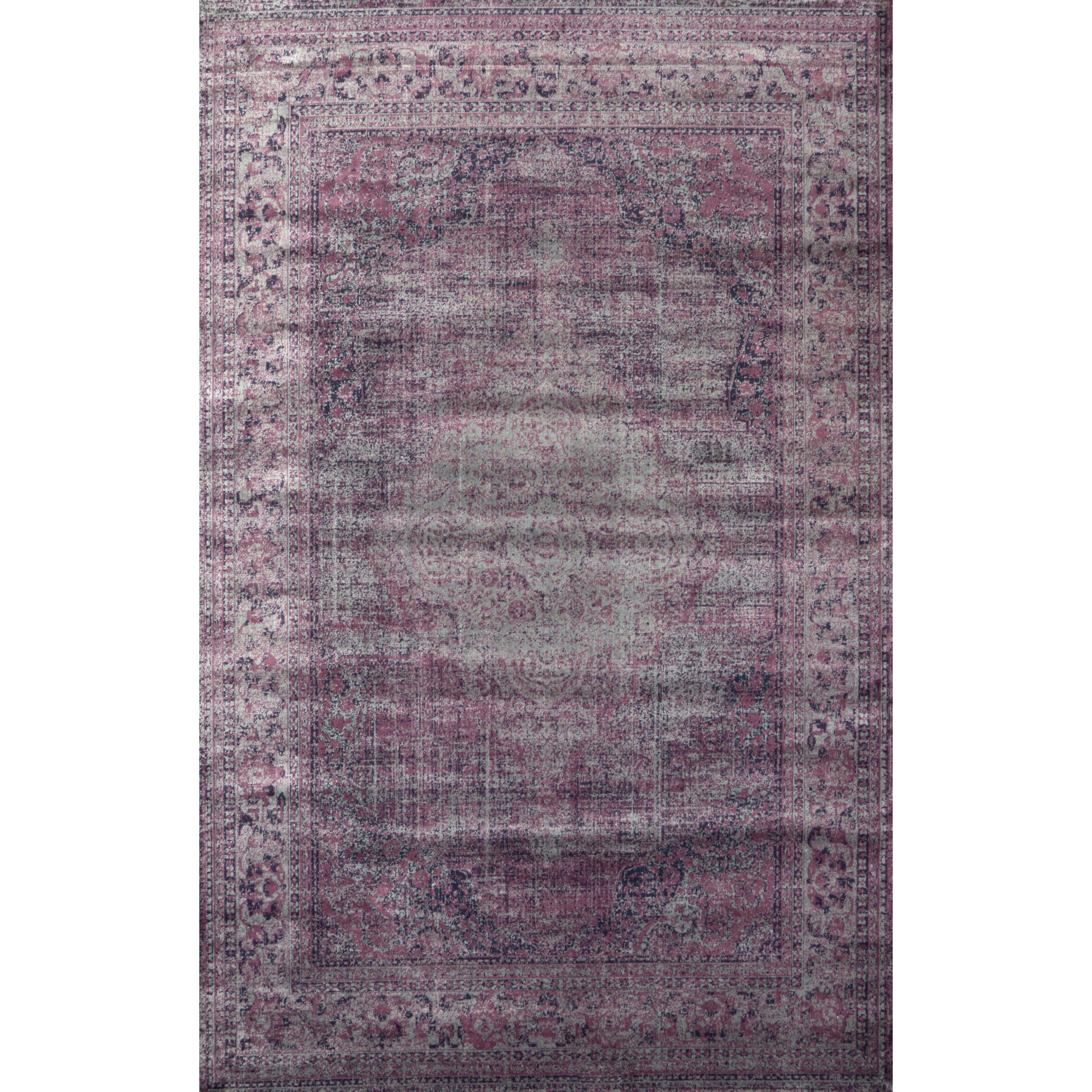 Purple area rug reviews allmodern for Plum and cream rug