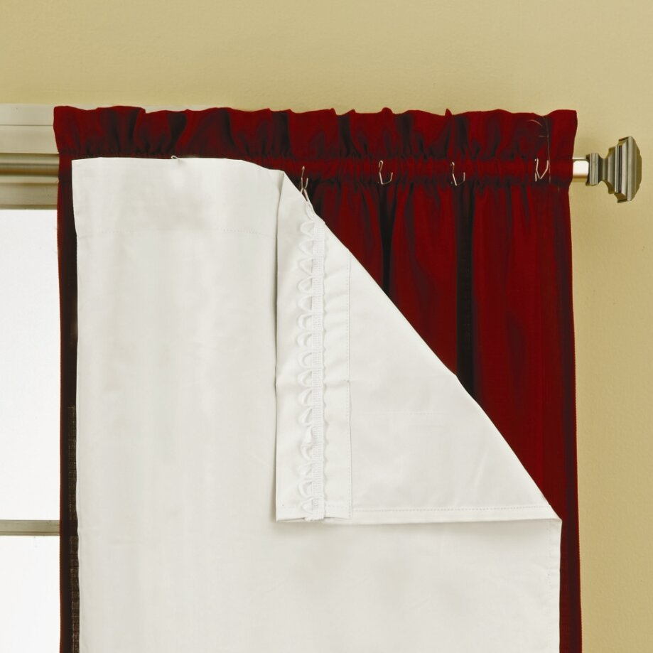 Eclipse Curtains Rod Pocket Blackout Curtain Panels Liner Reviews Wayfair
