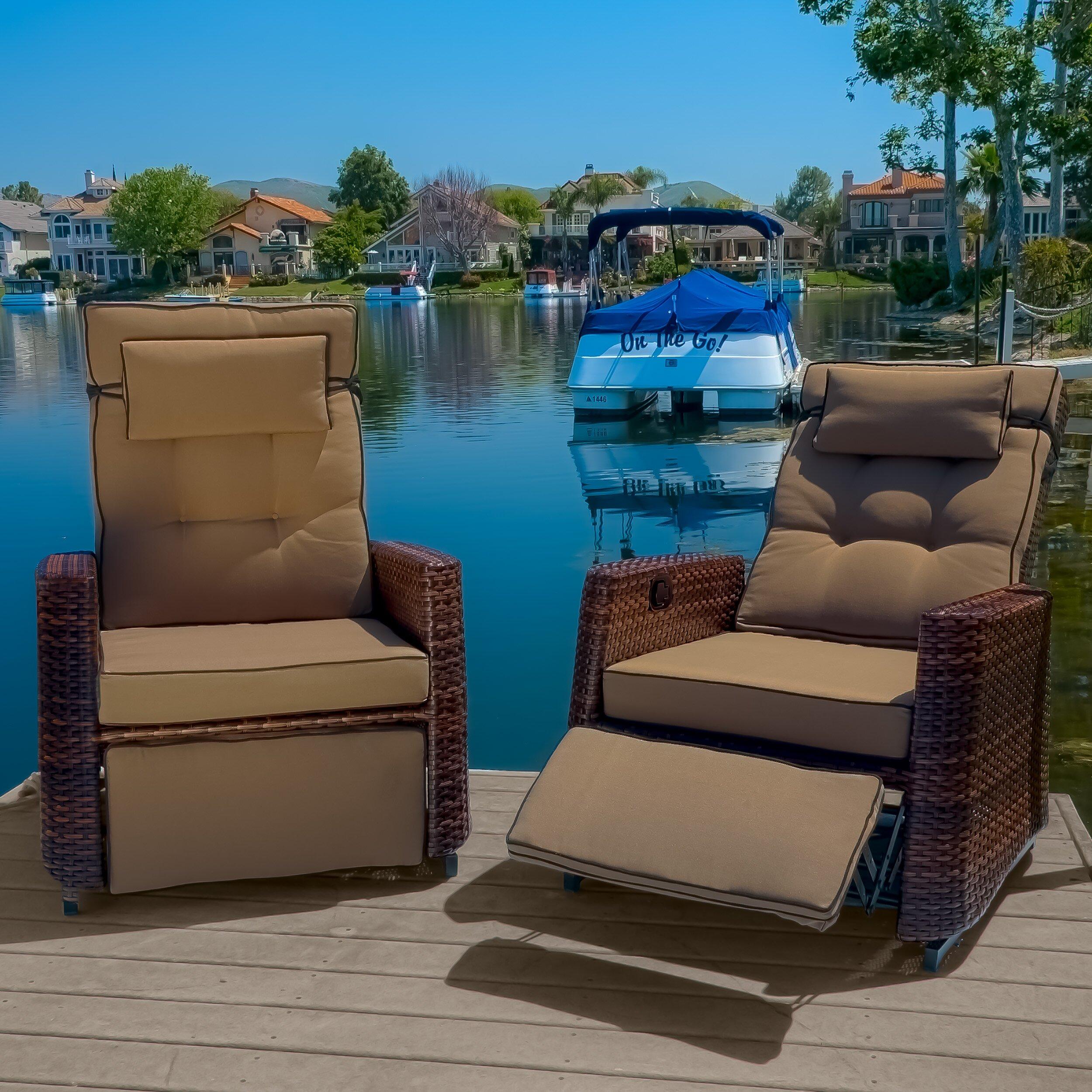 Chair Home Loft Concepts Penzance Pe Wicker Outdoor Recliner