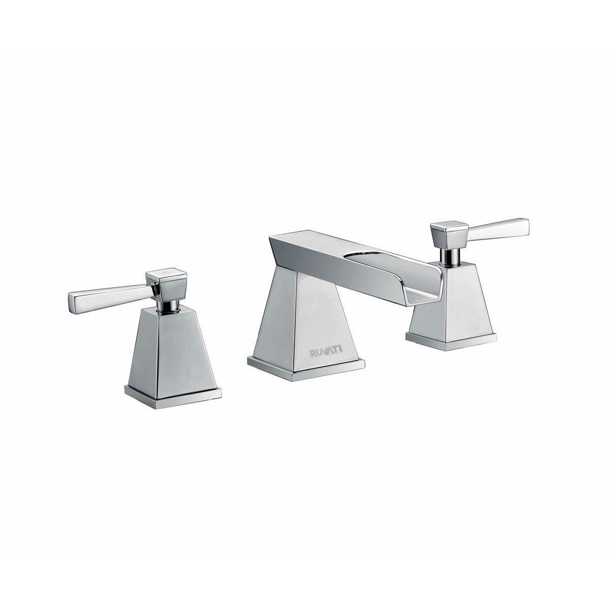 Ruvati Waterfall Double Handle Widespread Bathroom Faucet Reviews Wayfair