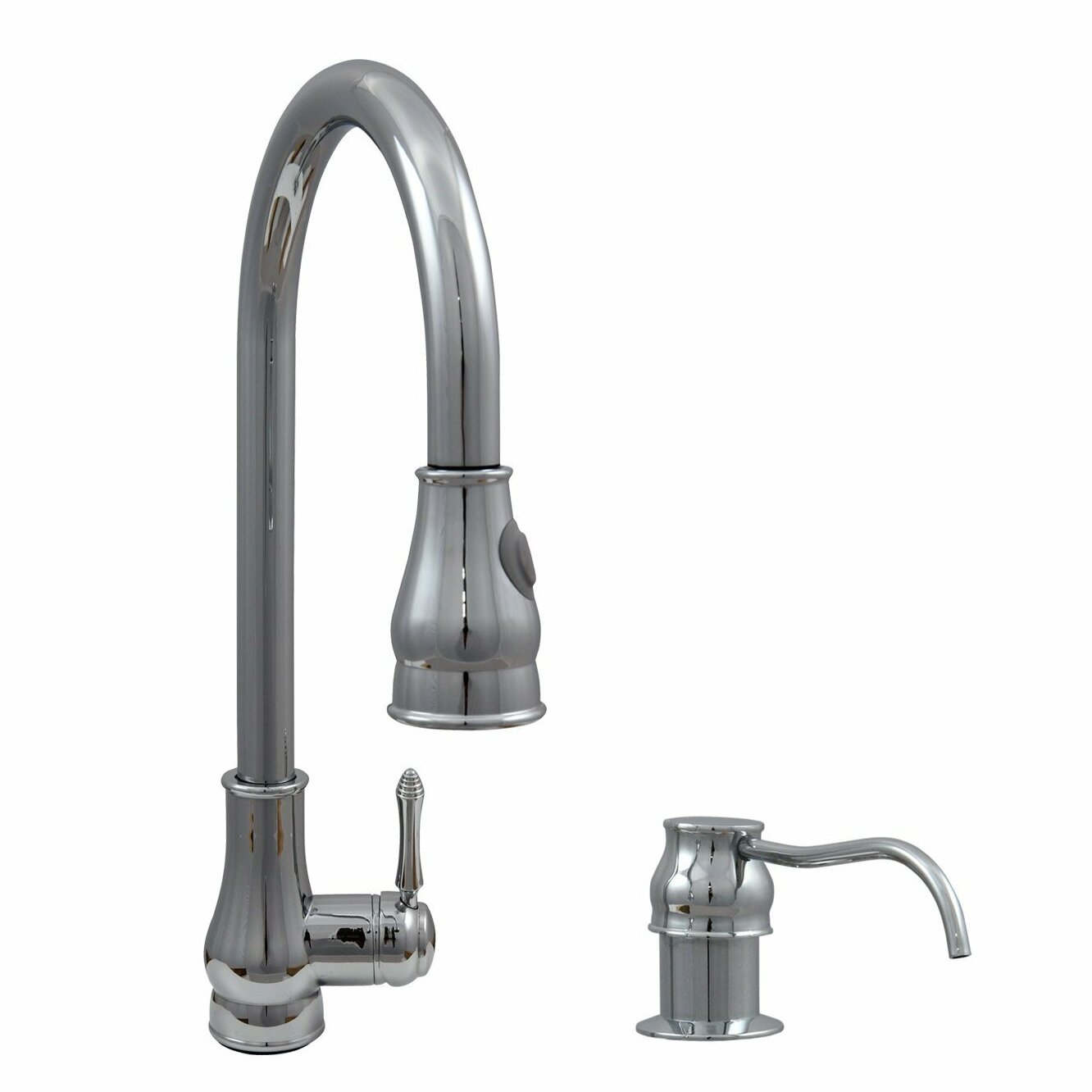 Kitchen Pull Out Faucet Dyconn Faucet Single Handle Pull Out Kitchen Faucet With Dual