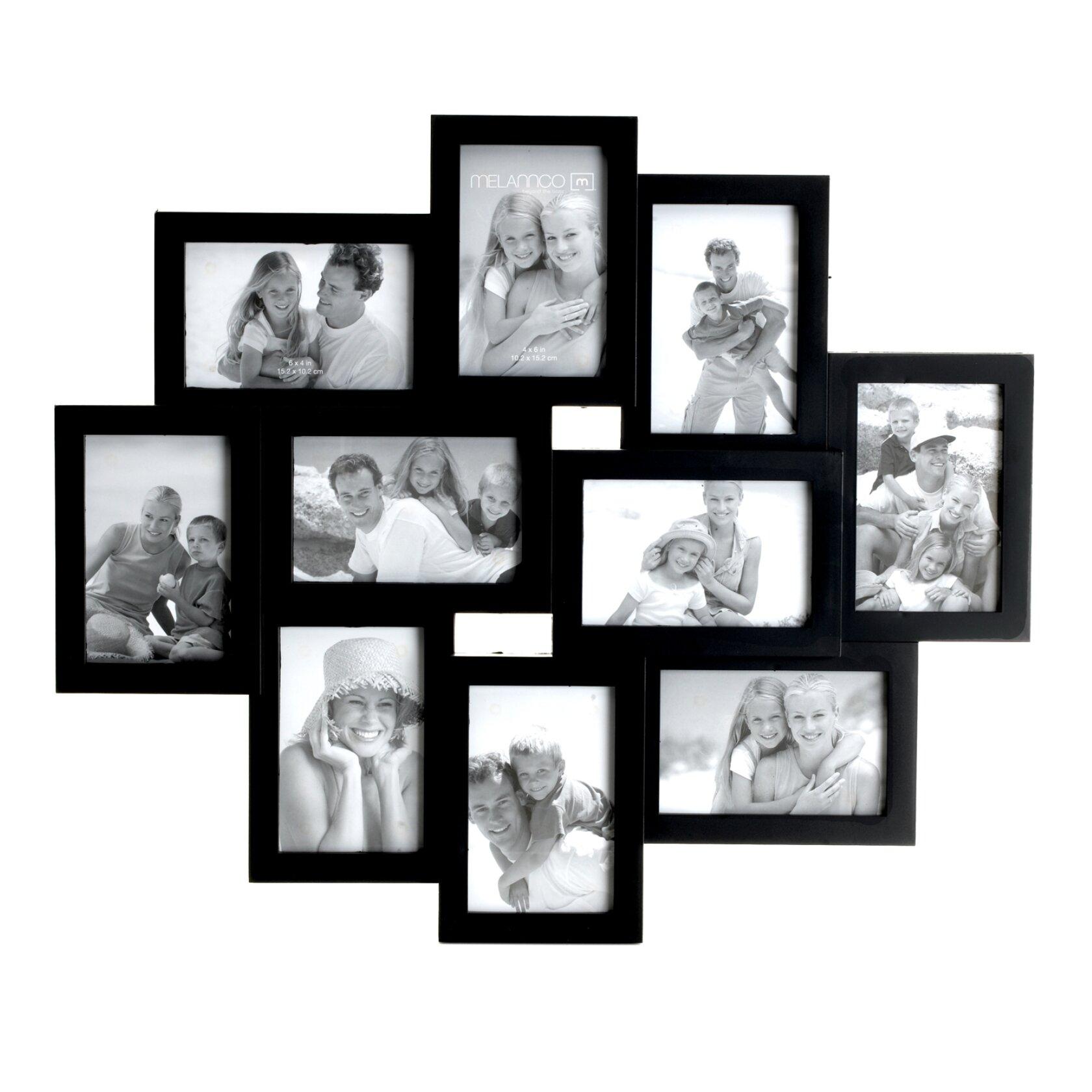 red barrel studio 10 picture black frame set