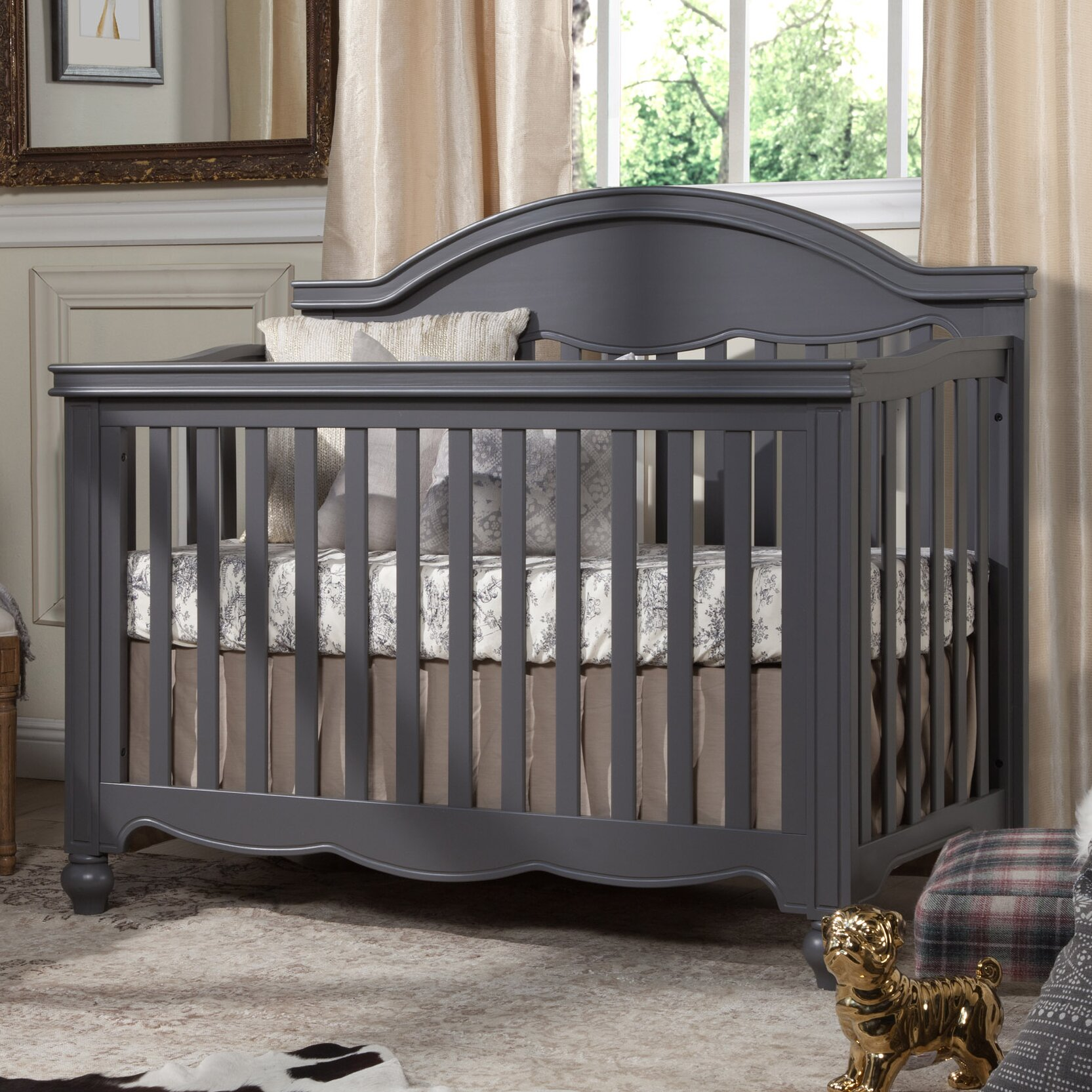 Brookfield fixed gate crib for sale - Million Dollar Baby Classic Etienne 4 In 1 Convertible Crib